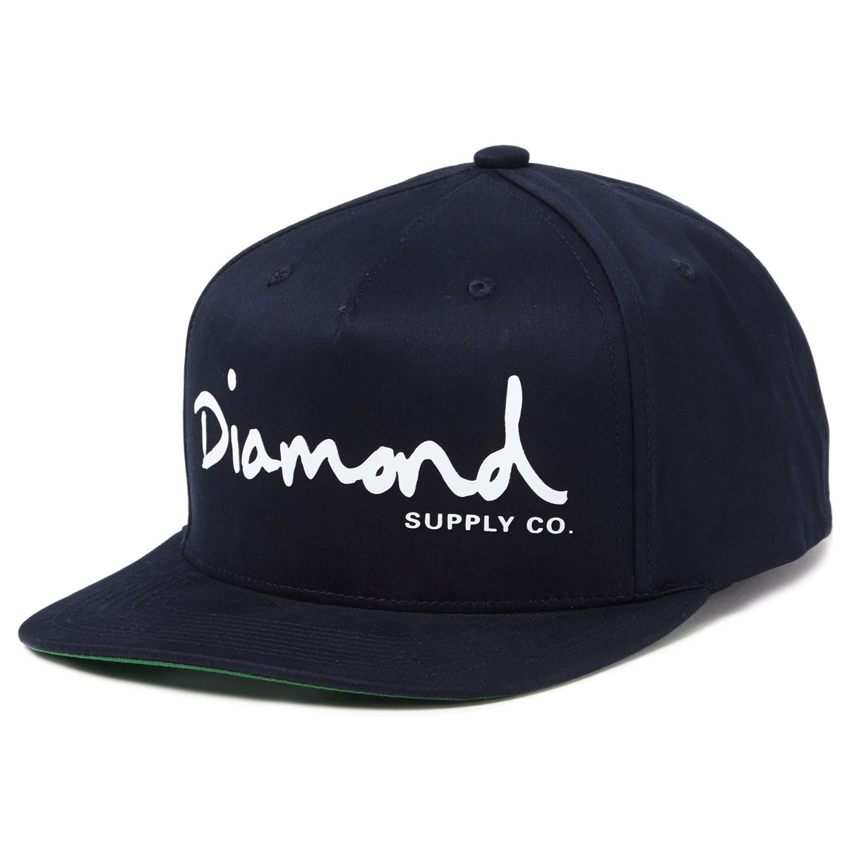 Diamond Supply Co. OG Script Snapback Hats - Navy