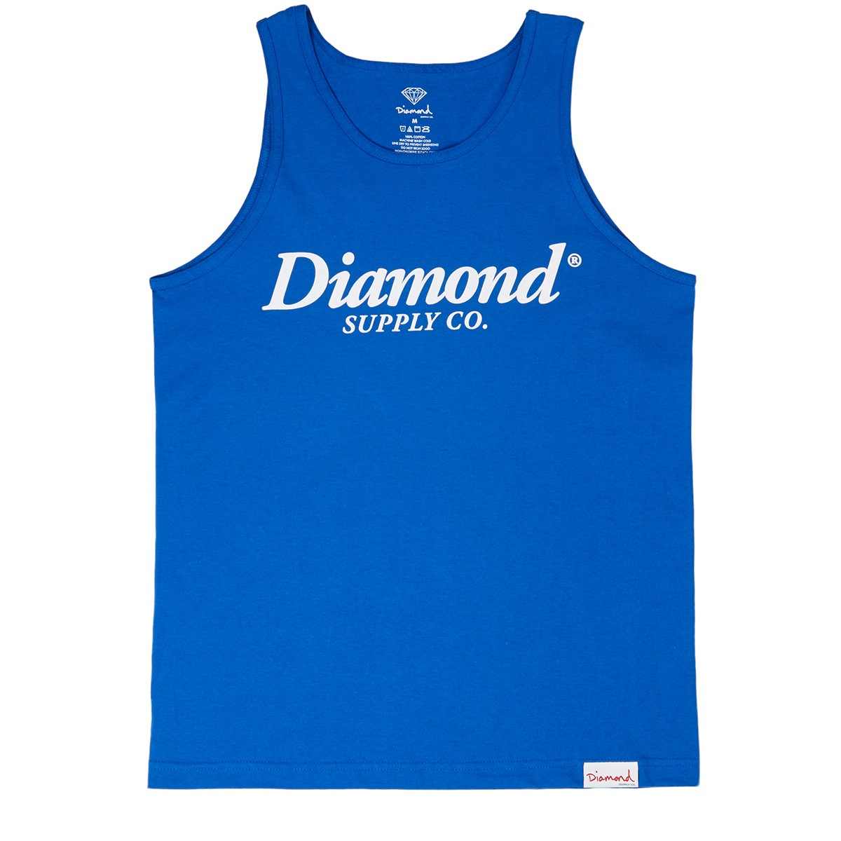 Diamond Supply Co. Typeset Tank Top - Royal Blue