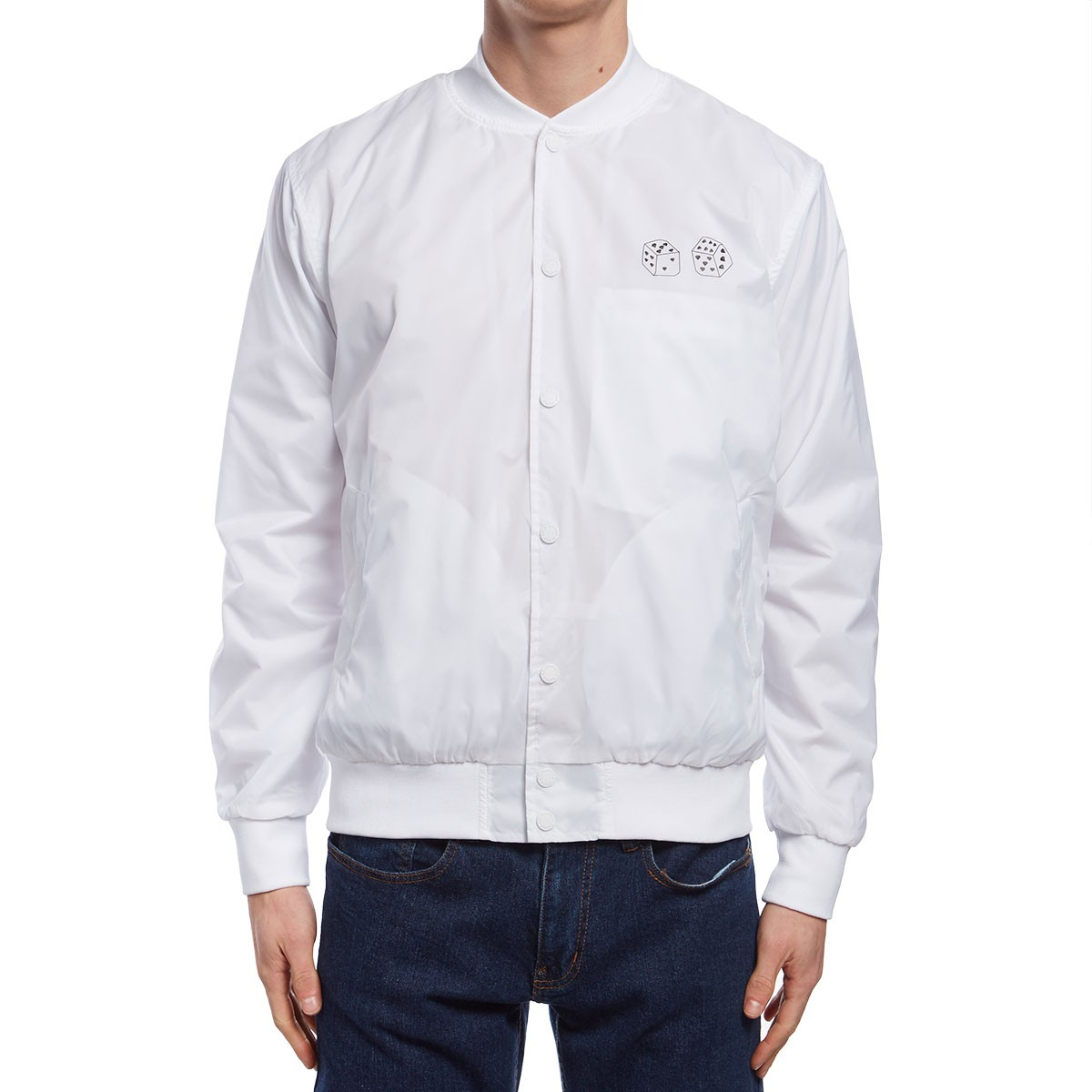aa3d67dec Diamond Supply Co. Club Varsity Jacket - White