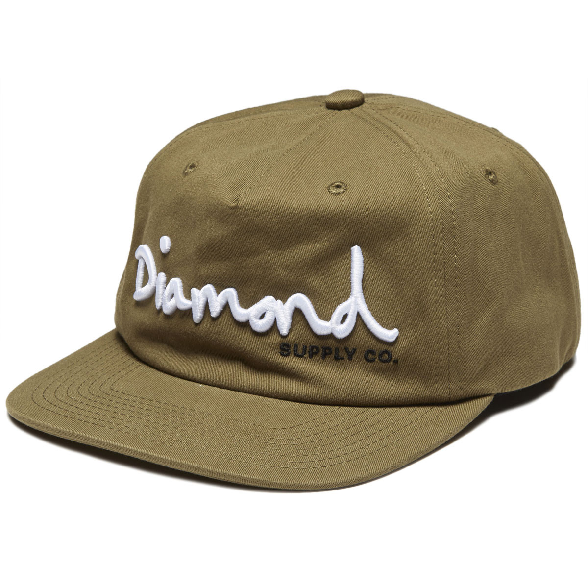 competitive price 987f4 b38f9 Diamond Supply Co. Og Script Unstrucutred Strapback Hat - Military Green