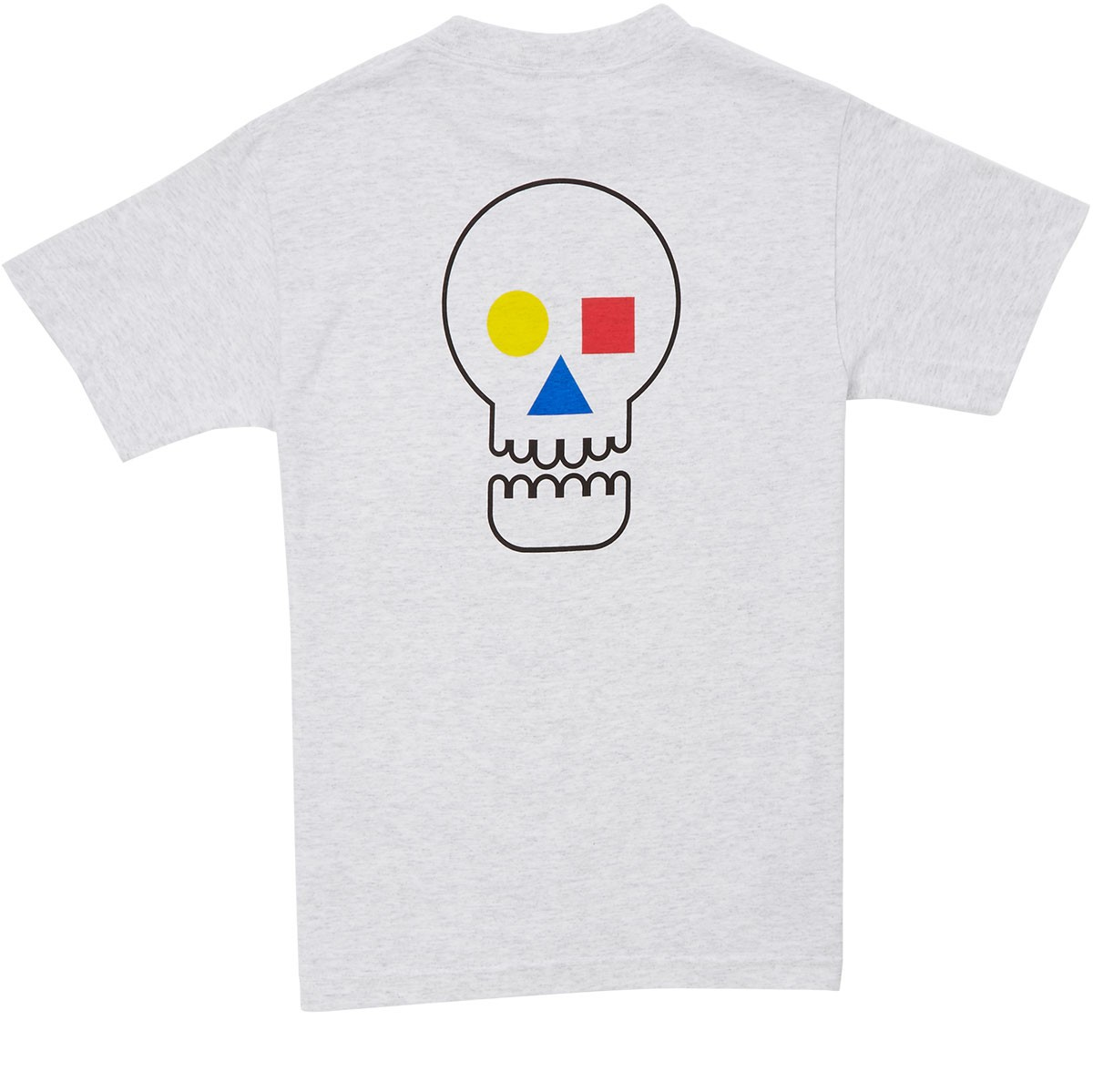The Quiet Life Bauhaus Skull T Shirt Ash