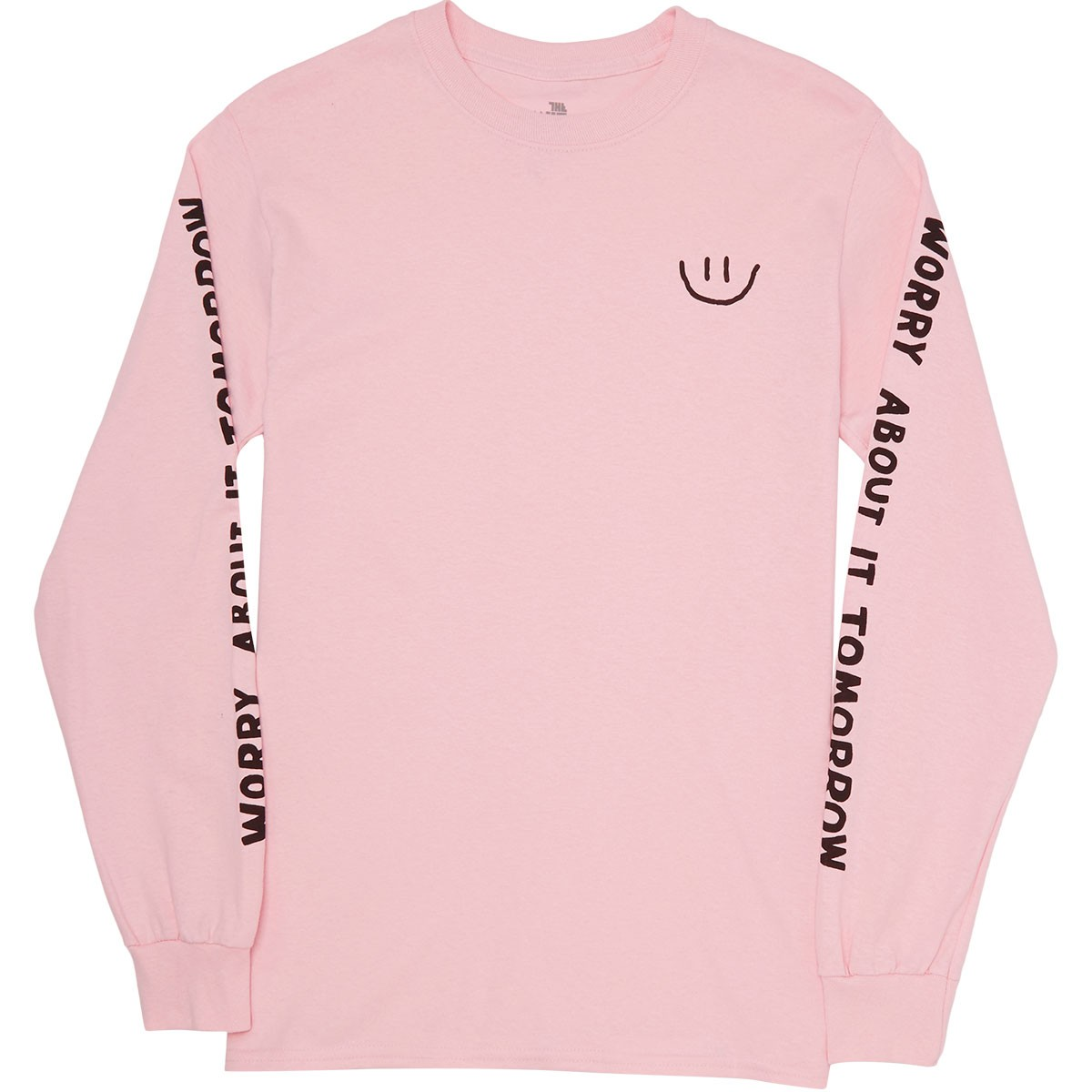 Quiet Life Worry Long Sleeve T-Shirt - Pink