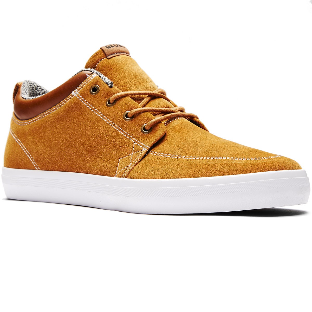 Globe GS Chukka Shoes - Dark Caramel/White