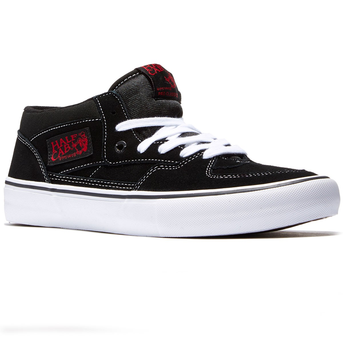 2beb94ded2 Vans Half Cab Pro Shoes - Black White Red - 8.0