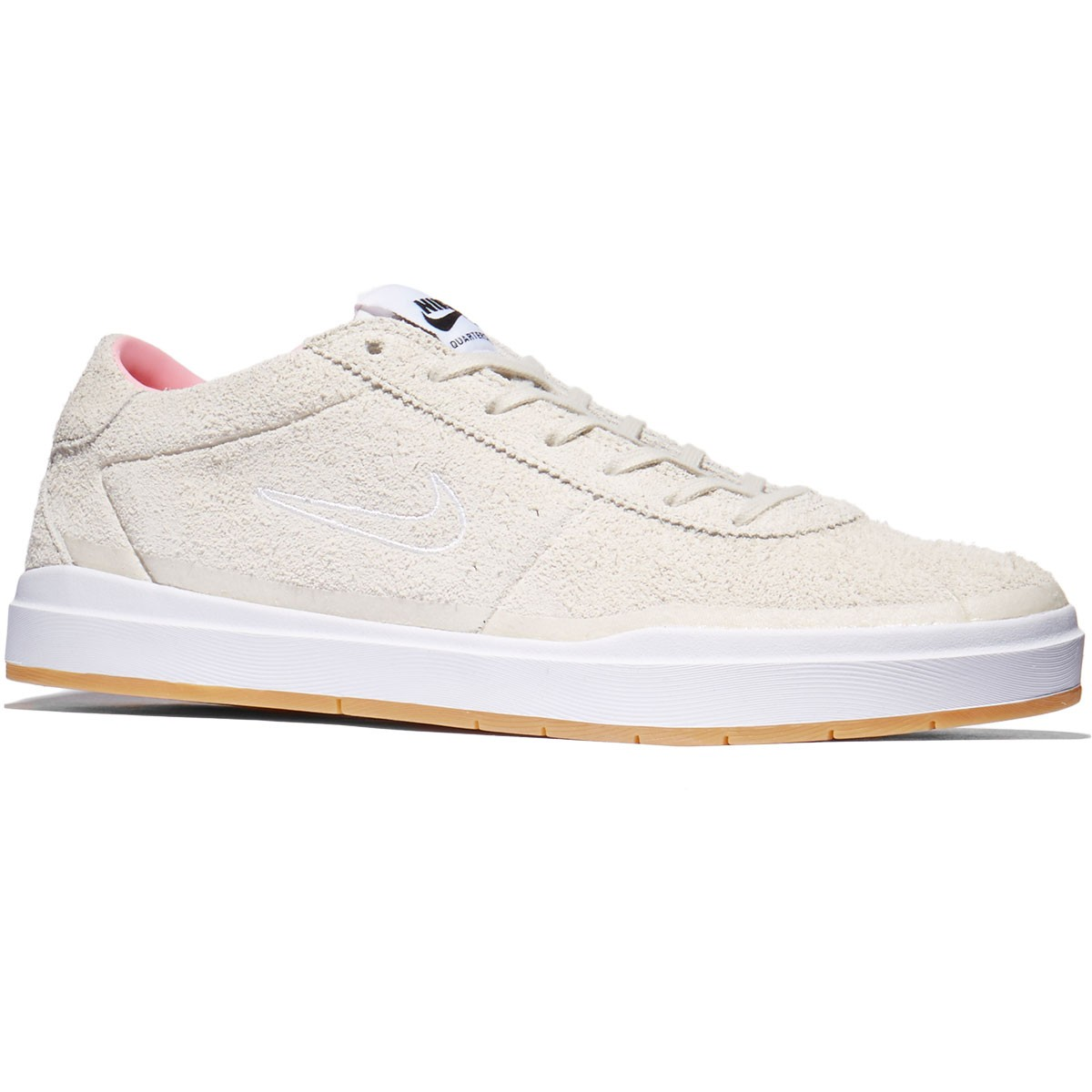 pretty nice bd2fd 8dc3d Nike SB X Quartersnacks Bruin Hyperfeel QS Shoes - Birch White Space Pink