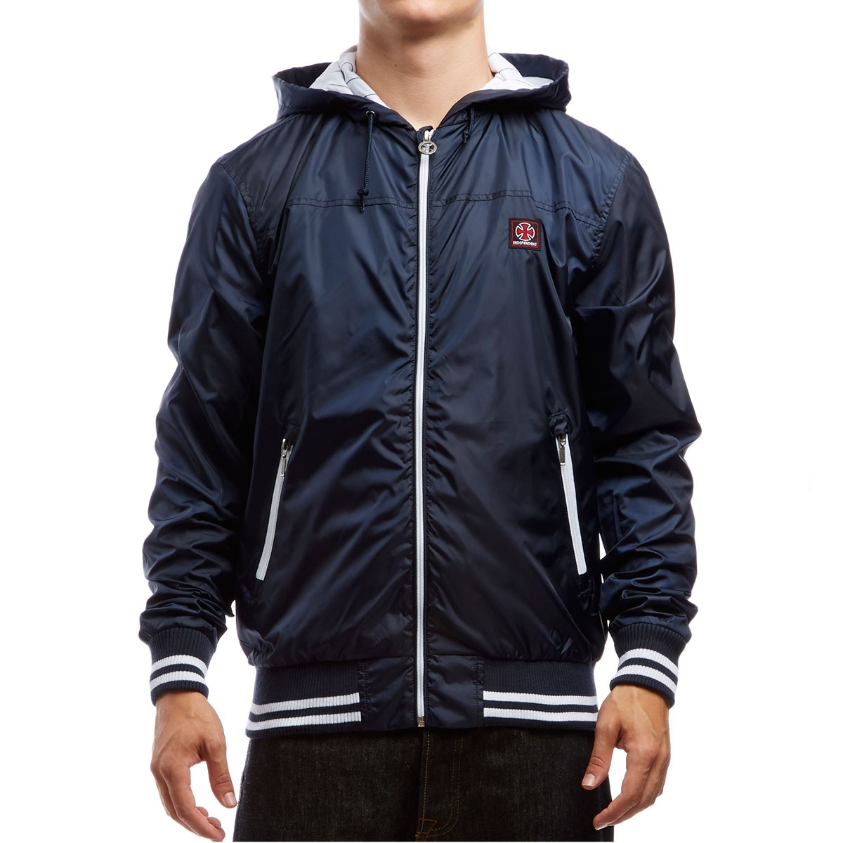 Capital Hooded Windbreaker Jacket - Navy