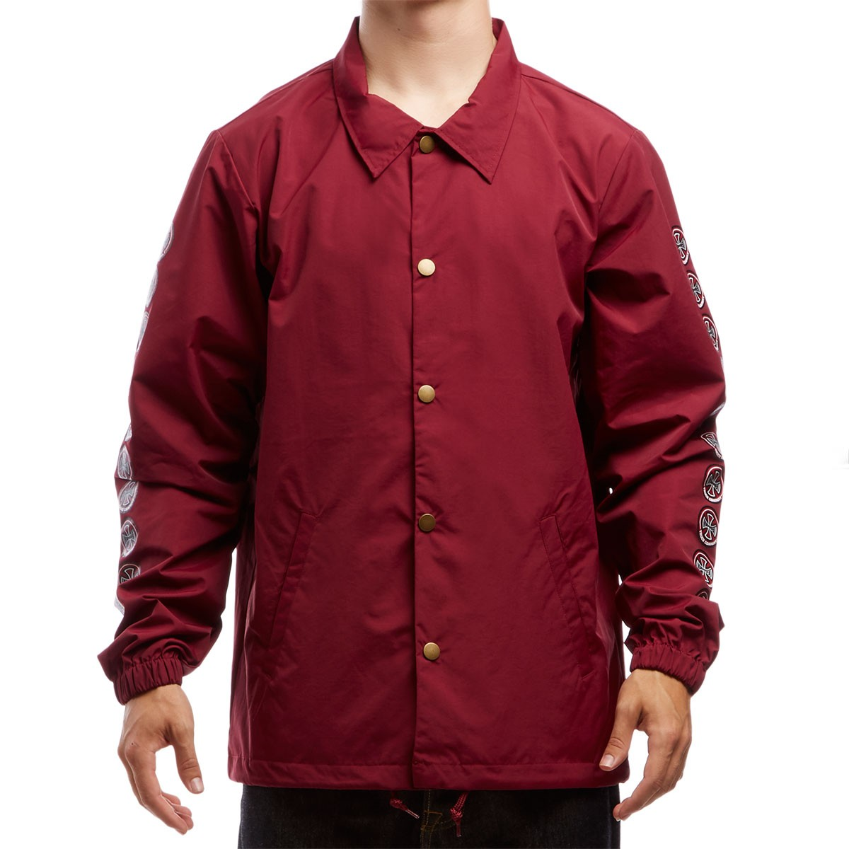 Independent Quatro Coach Windbreaker Jacket - Cardinal