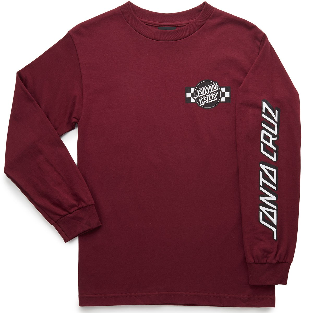 santa cruz contest long sleeve t shirt burgundy. Black Bedroom Furniture Sets. Home Design Ideas