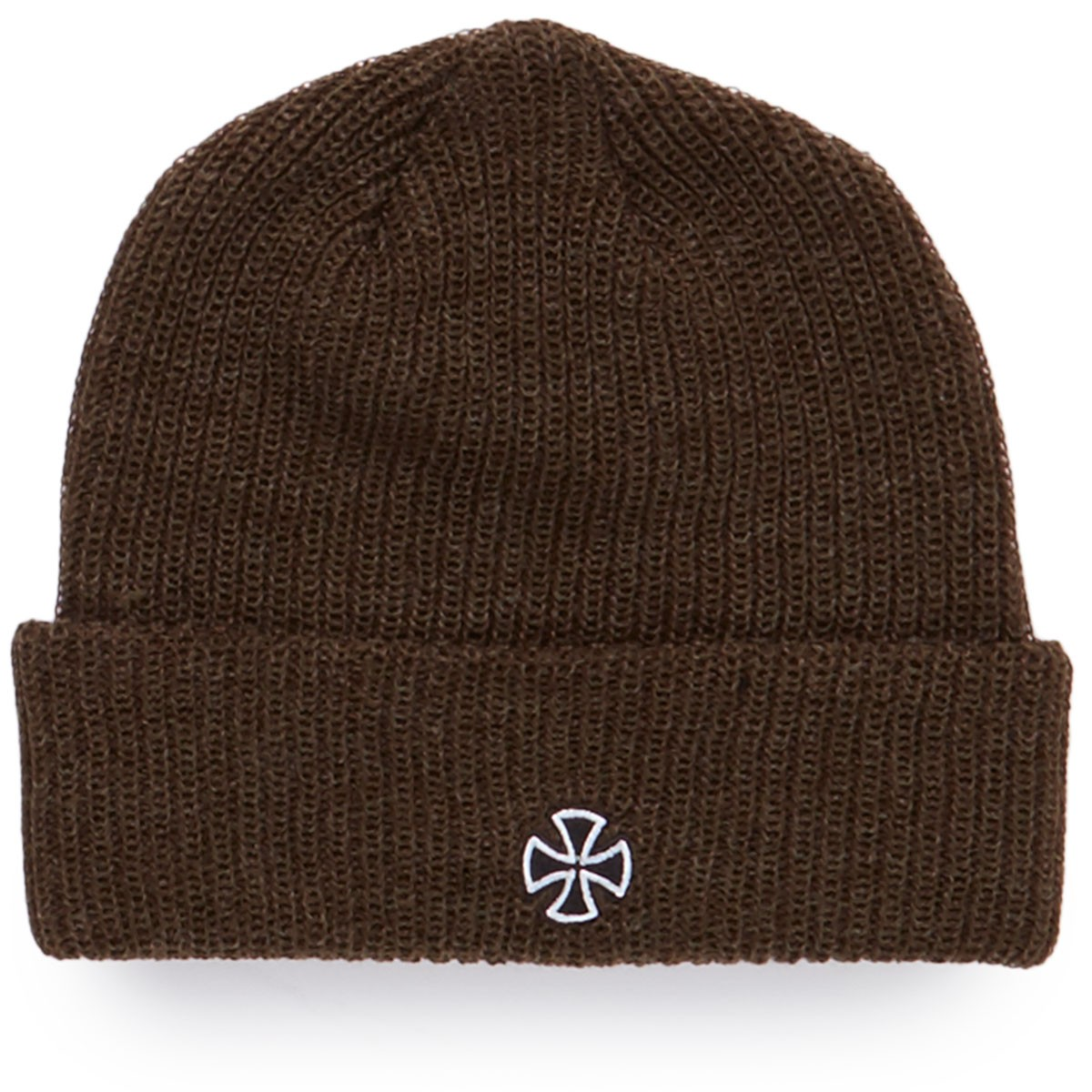 Independent Cross Ribbed Beanie - Heather Olive