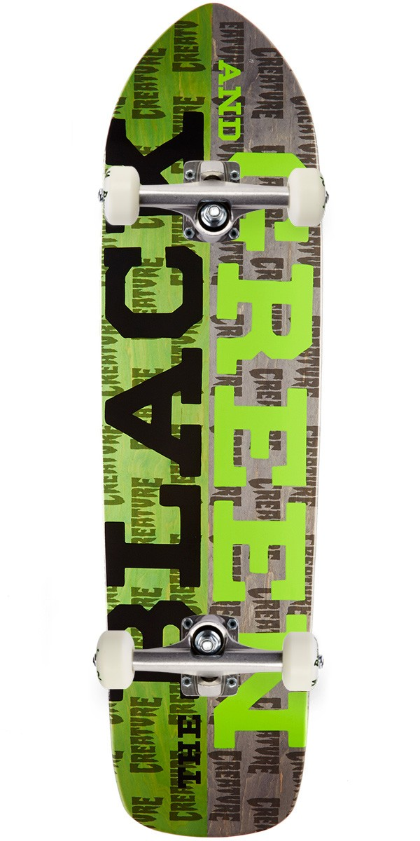Creature Black and Green Skateboard Complete - 8.5