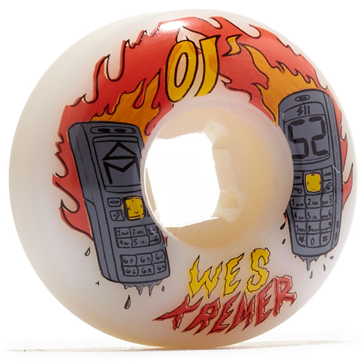 OJ Kremer Burners RIP EZ Edge Skateboard Wheels - 52mm 101a