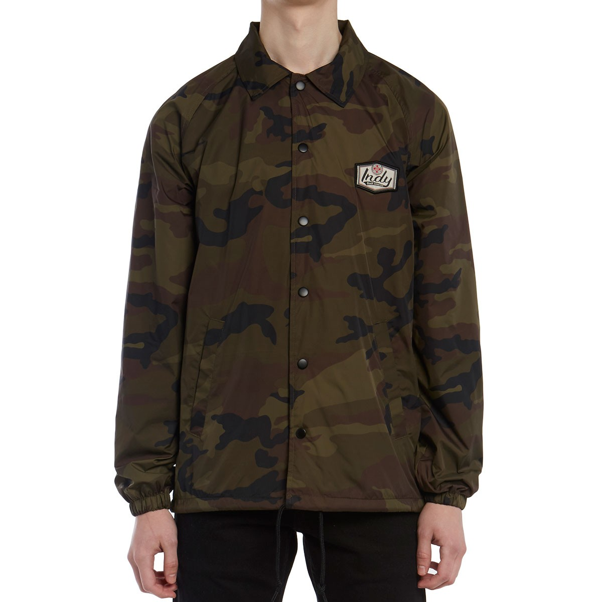 Indy Patch Coach Windbreaker Jacket - Camo