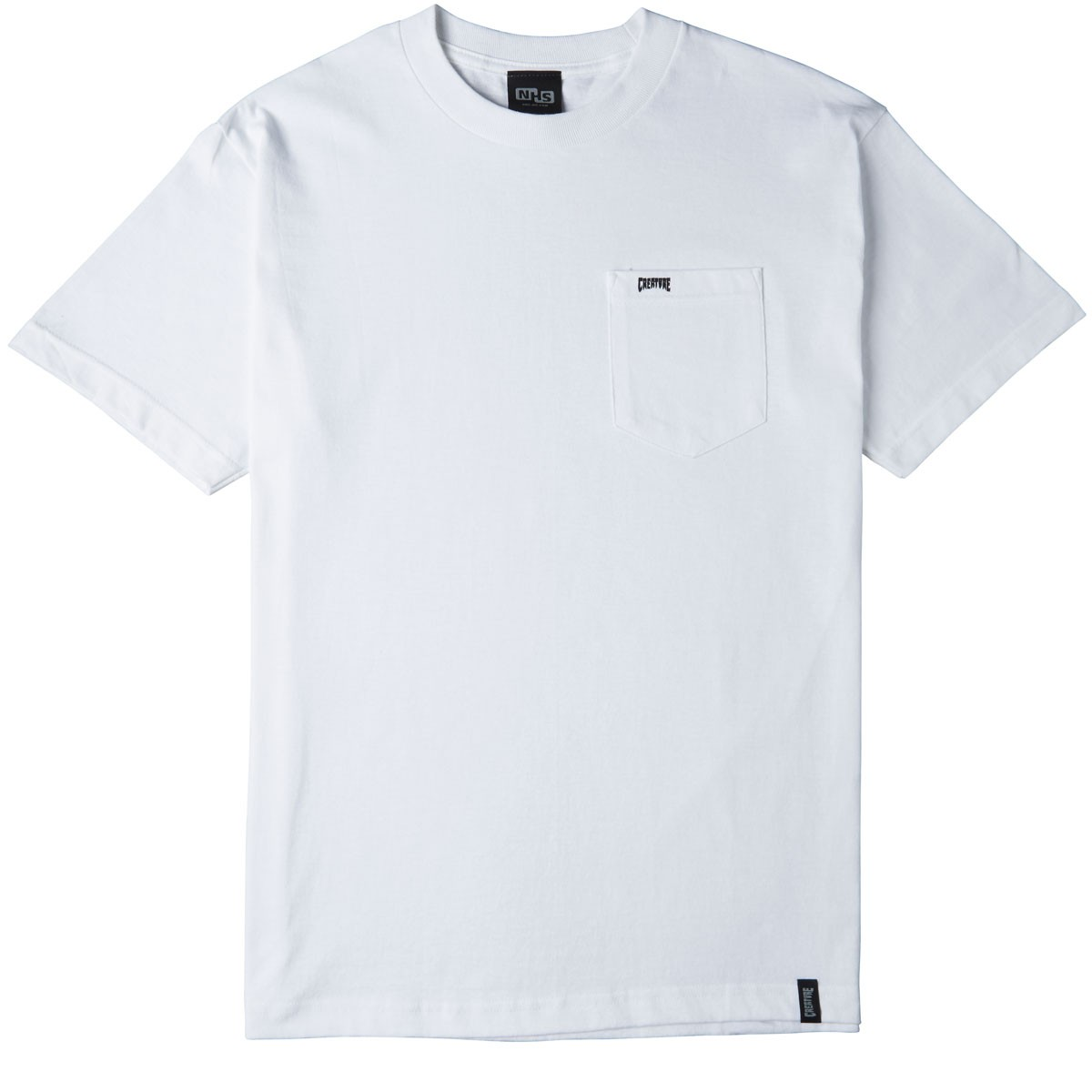 Creature Clean Pocket T Shirt White
