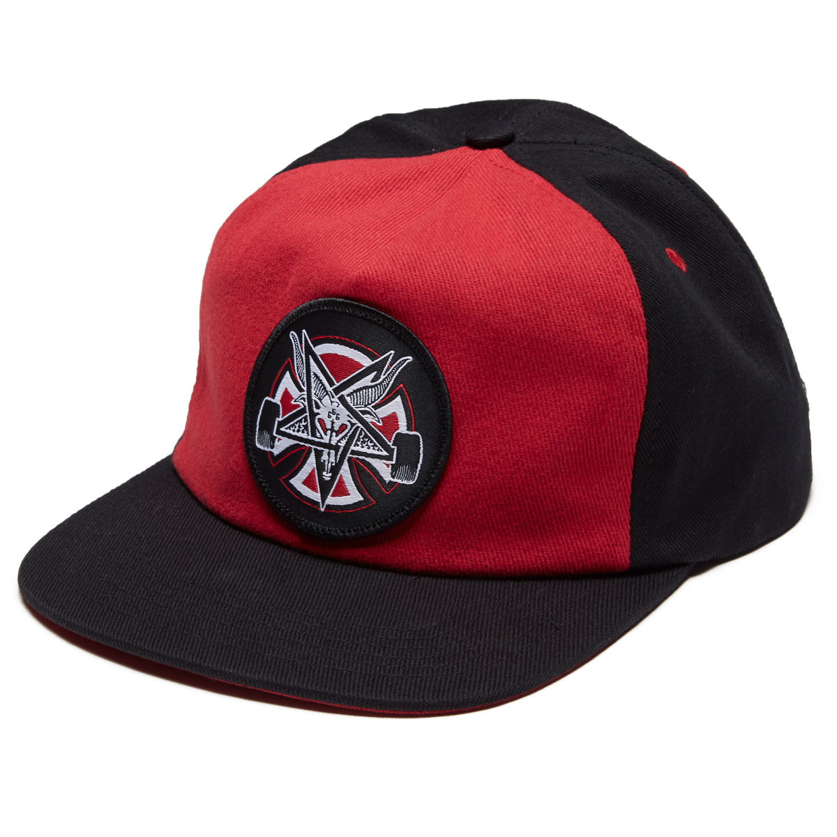 Independent x Thrasher Pentagram Cross Snapback Hat - Cardinal Black db1cd27d3328