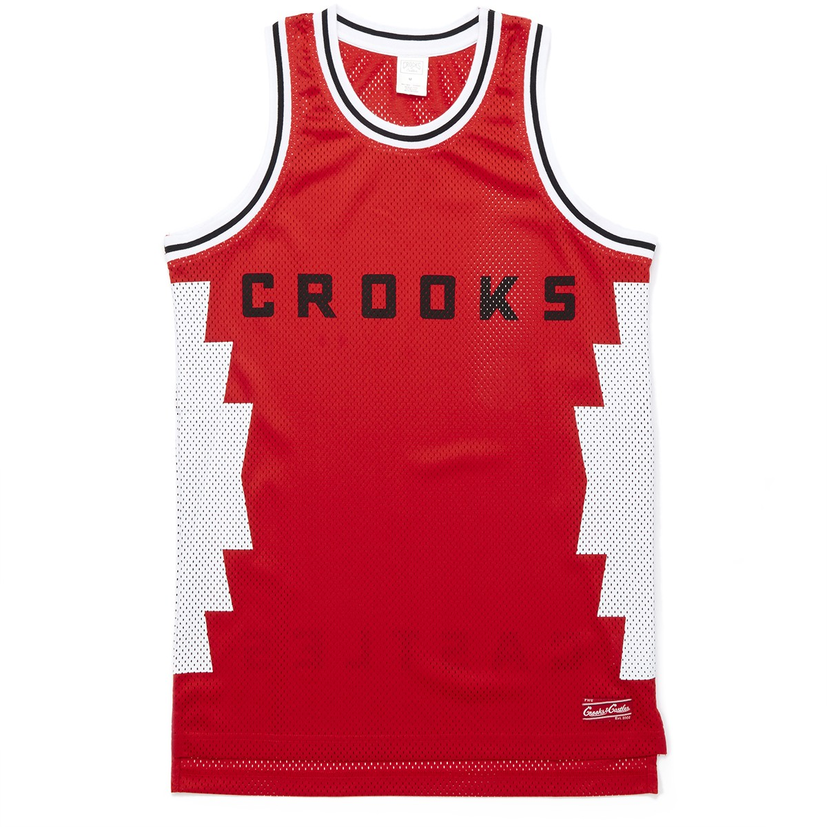 c60530629 Crooks and Castles Tribal Knit Basketball Jersey - True Red