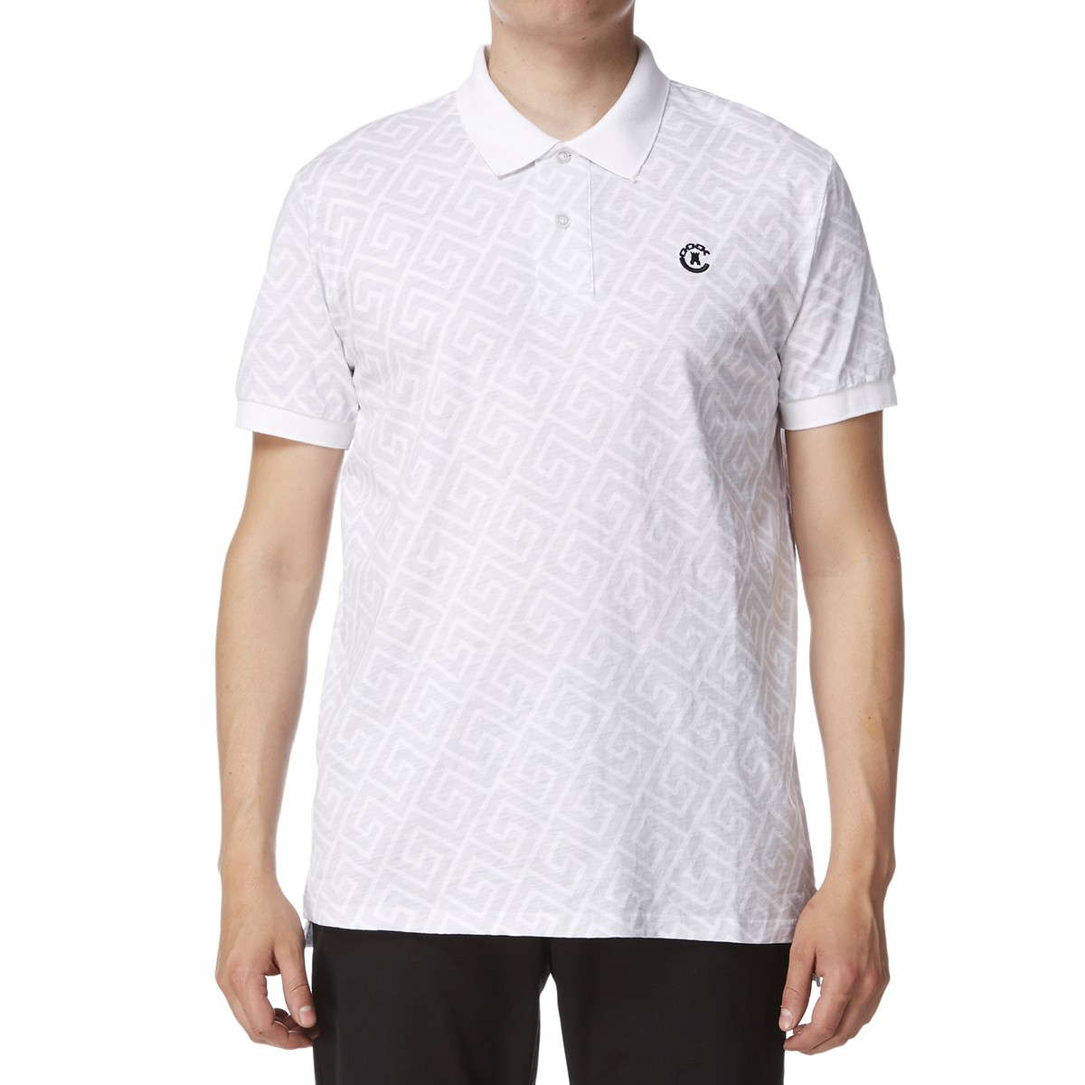 crooks and castles infinity knit polo shirt white
