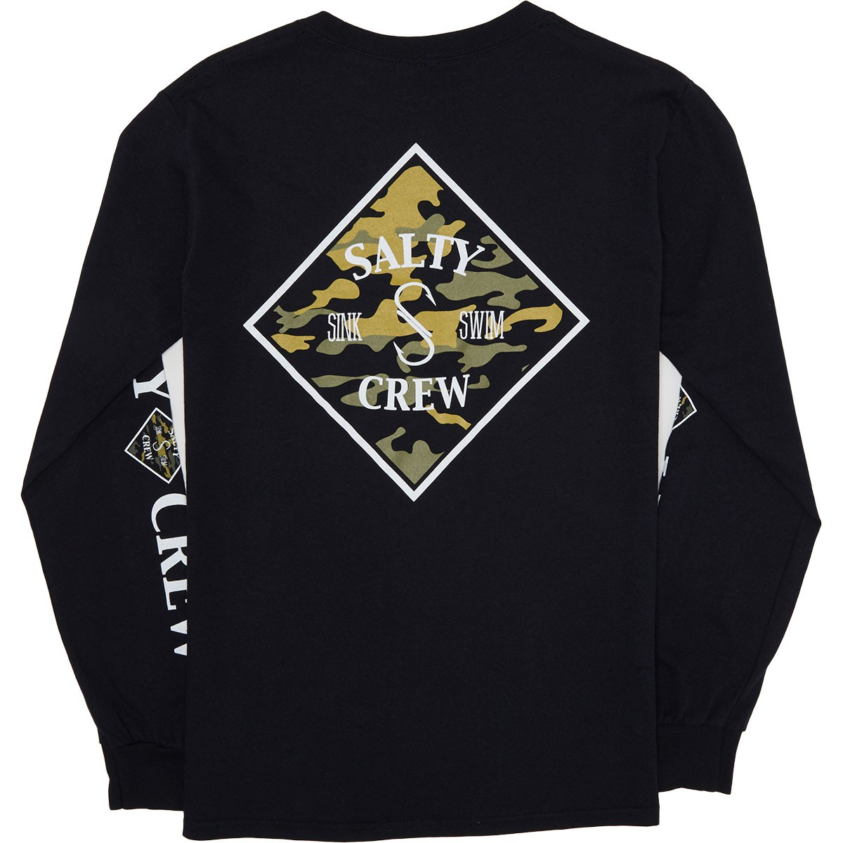 0faa6ba9cf Salty Crew Tippet Camo Long Sleeve T-Shirt - Black