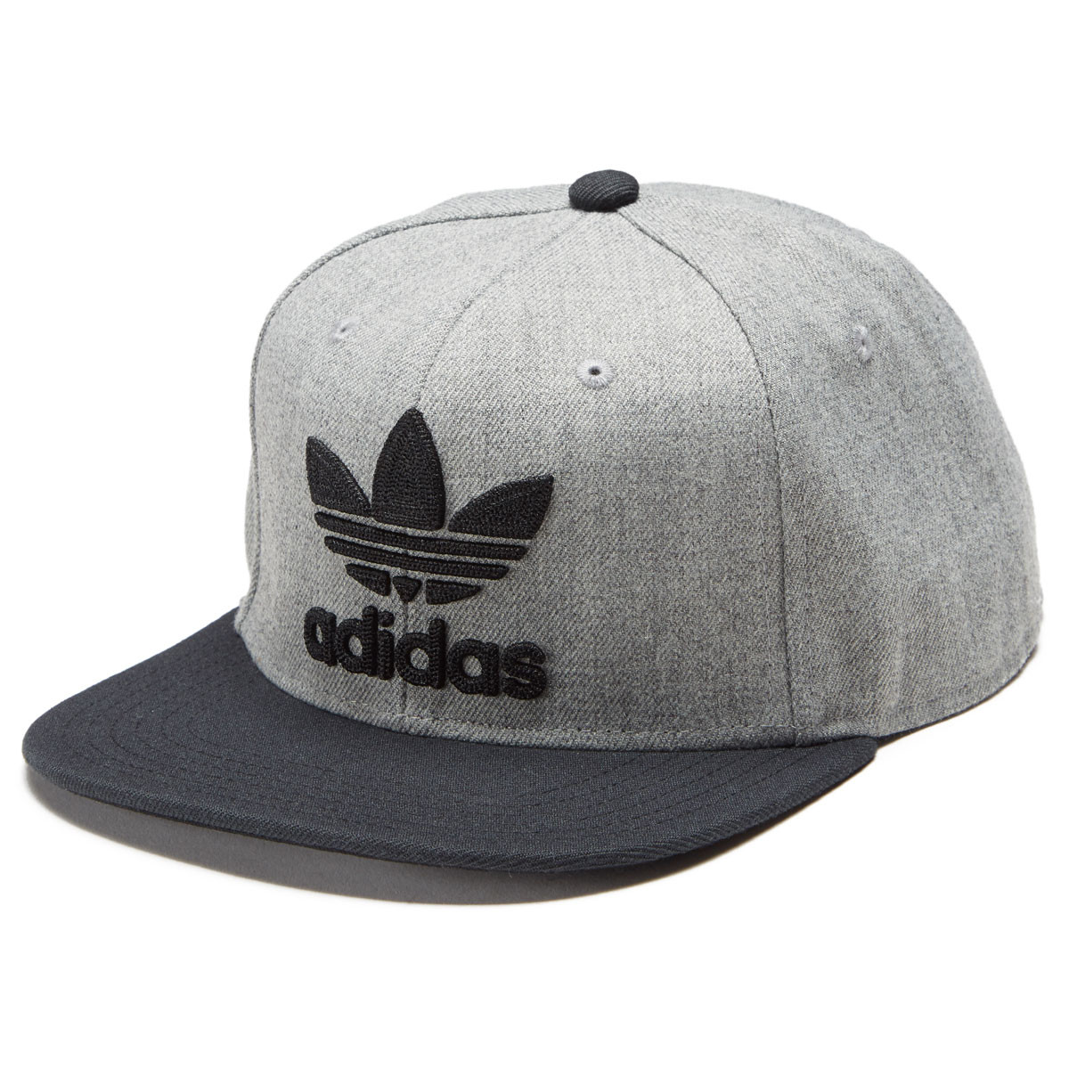 182116a458329 Adidas Men s Originals Trefoil Chain Snapback Hat - Heather Grey Black