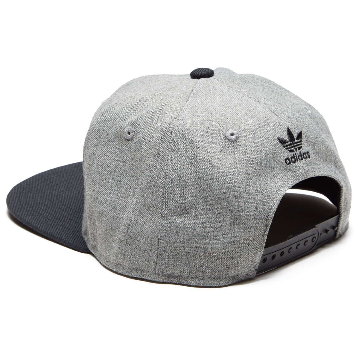 a84197b3993 Adidas Men s Originals Trefoil Chain Snapback Hat - Heather Grey Black
