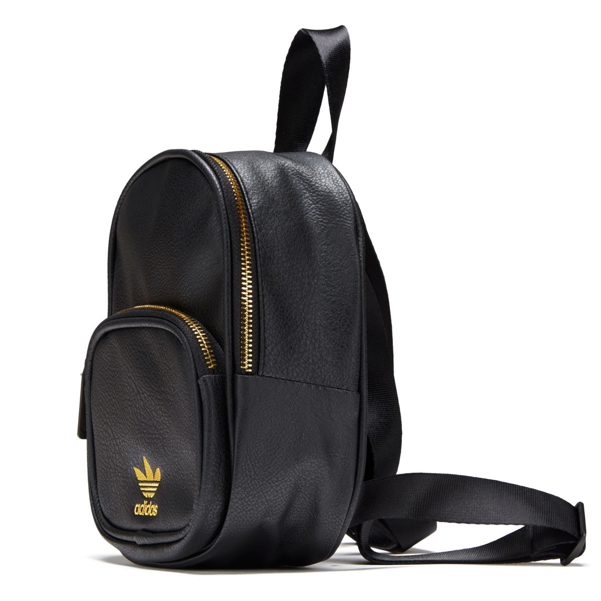 Adidas Originals Mini PU Leather Backpack - Black Gold 736ef7e7293df