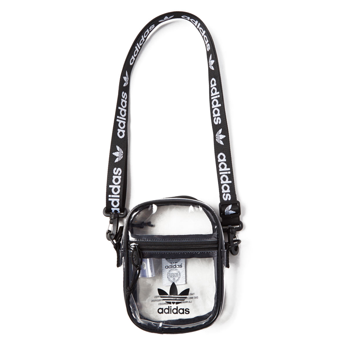 fa6d5e1b9 Adidas Originals Clear Festival Crossbody Bag - Black