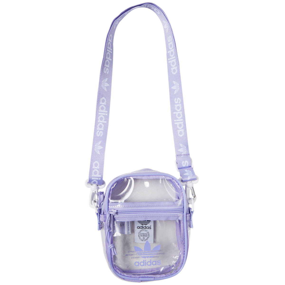 09f726ef7 Adidas Originals Clear Festival Crossbody Bag - Glow Purple