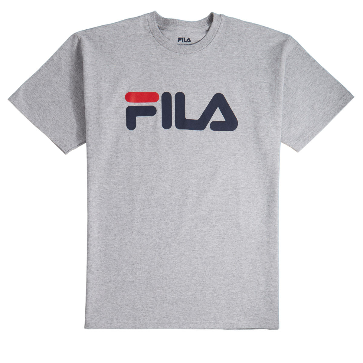 ea8629a184ab FILA Logo T-Shirt - Grey Heather Navy Chinese Red