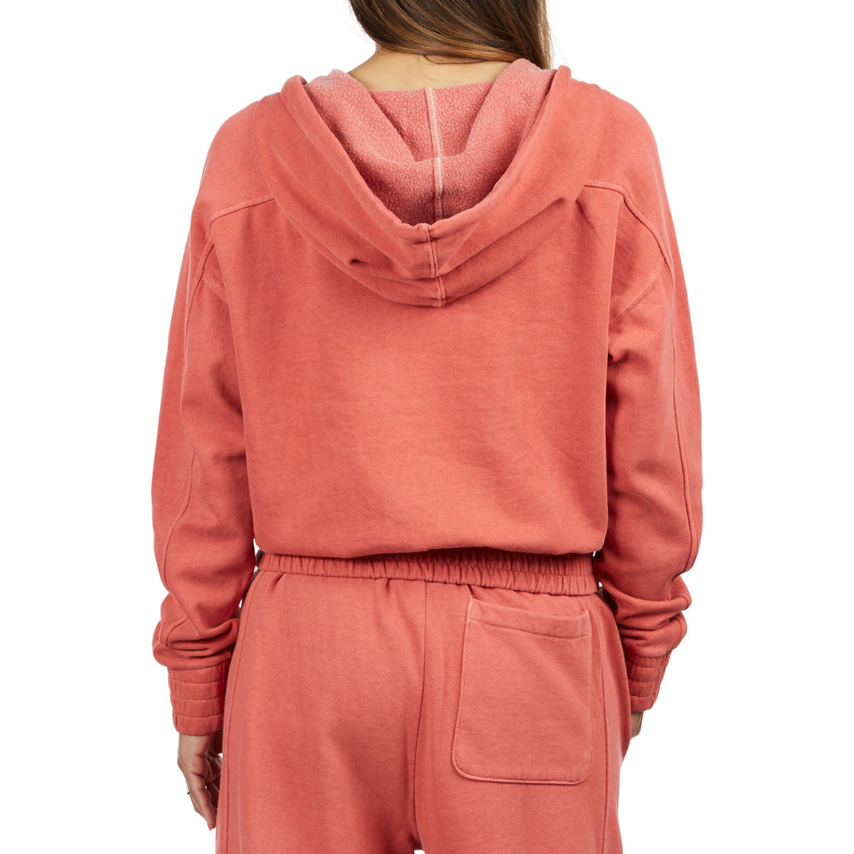 556c48fc696a Champion Womens Vintage Dyed Fleece 1 2 Zip Hoodie - Picante Pink