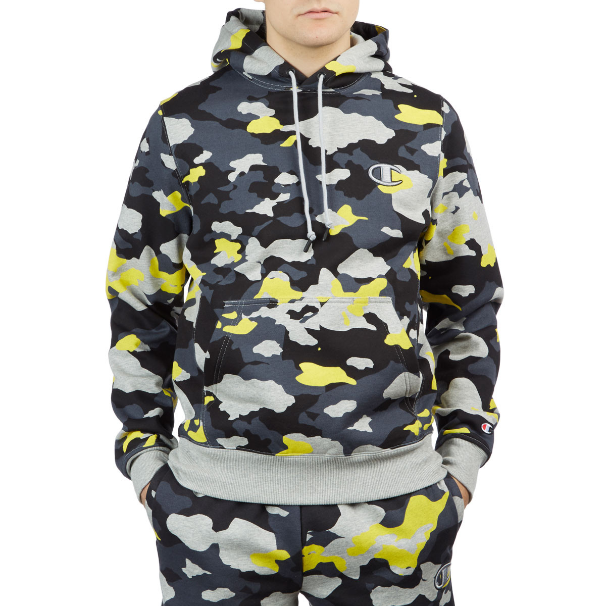 6a2cb7cd02a6 Champion Super Fleece 2.0 Hoodie - Camo Pop Oxford Grey