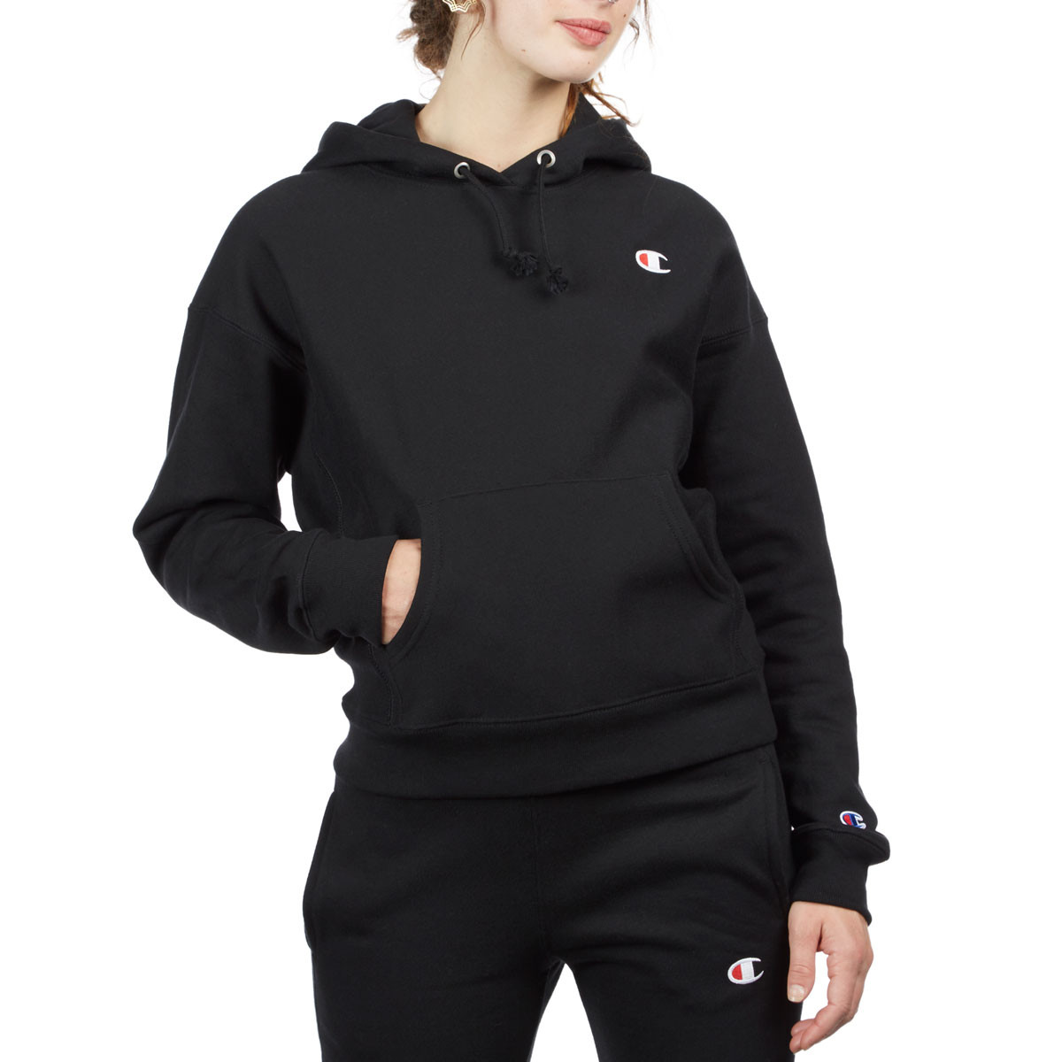 free shipping hot-selling cheap on feet shots of Champion Womens Reverse Weave Hoodie - Black