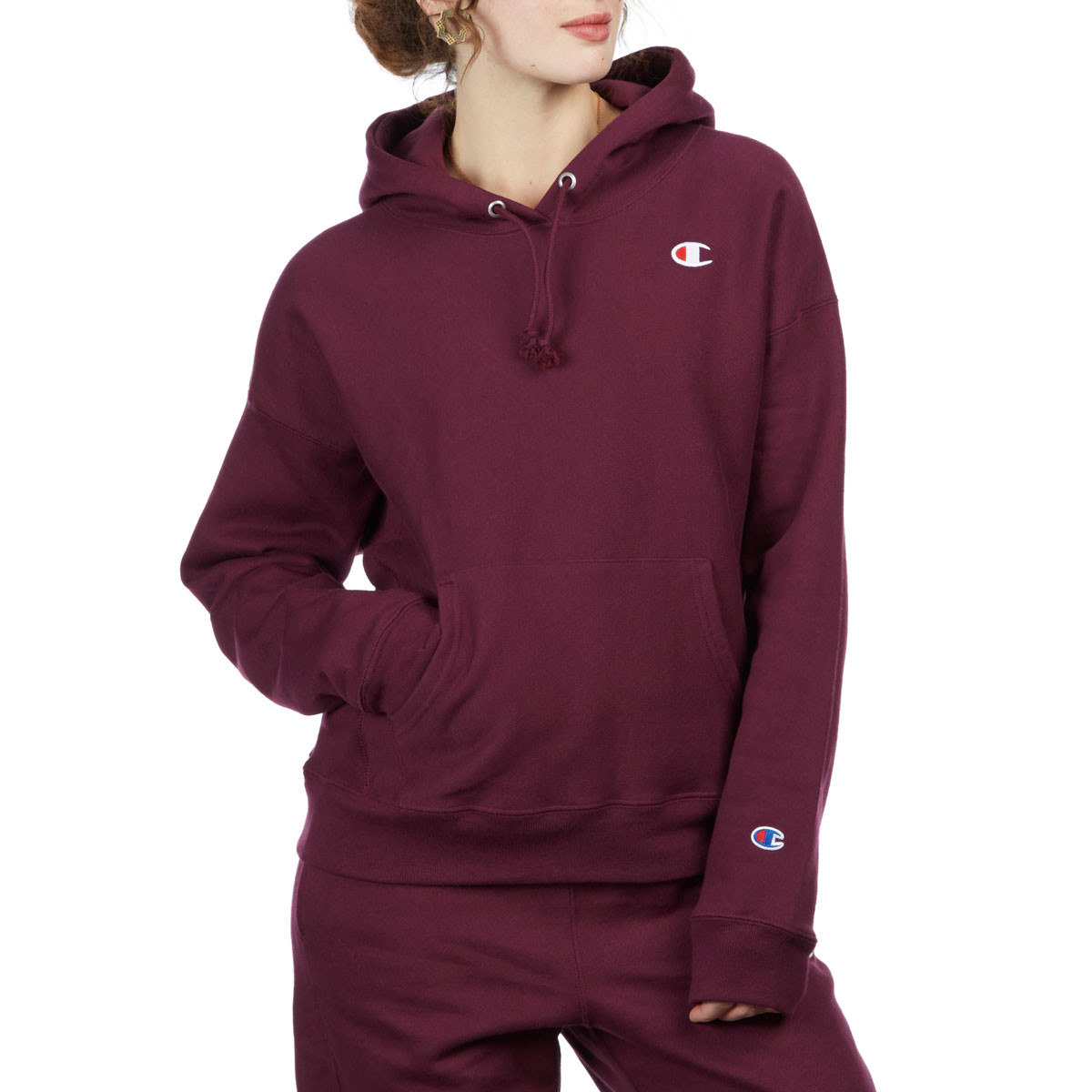 65ff18961268 Champion Womens Reverse Weave Hoodie - Dark Berry Purple