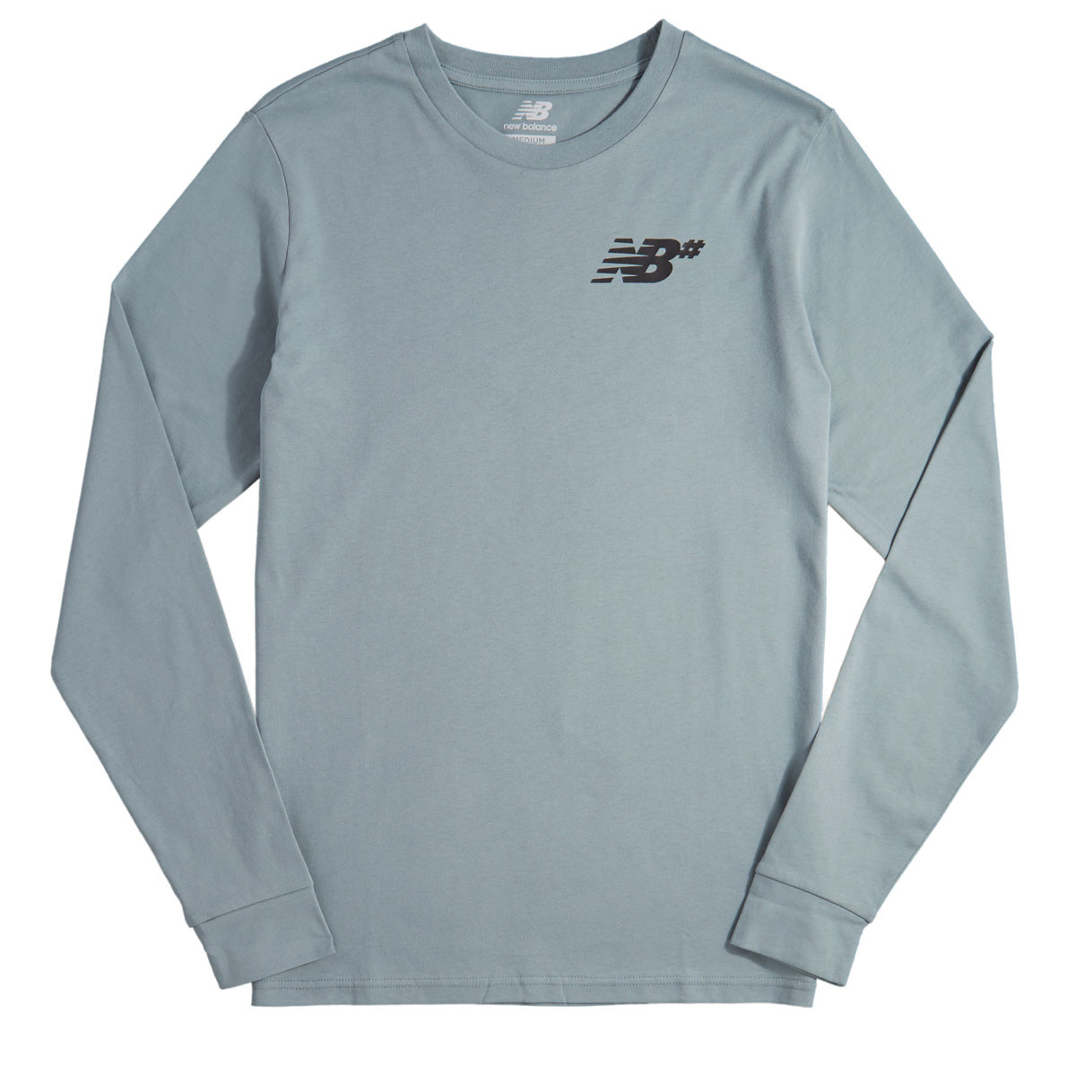 93310f44a890c New Balance NB Long Sleeve T-Shirt - Slate