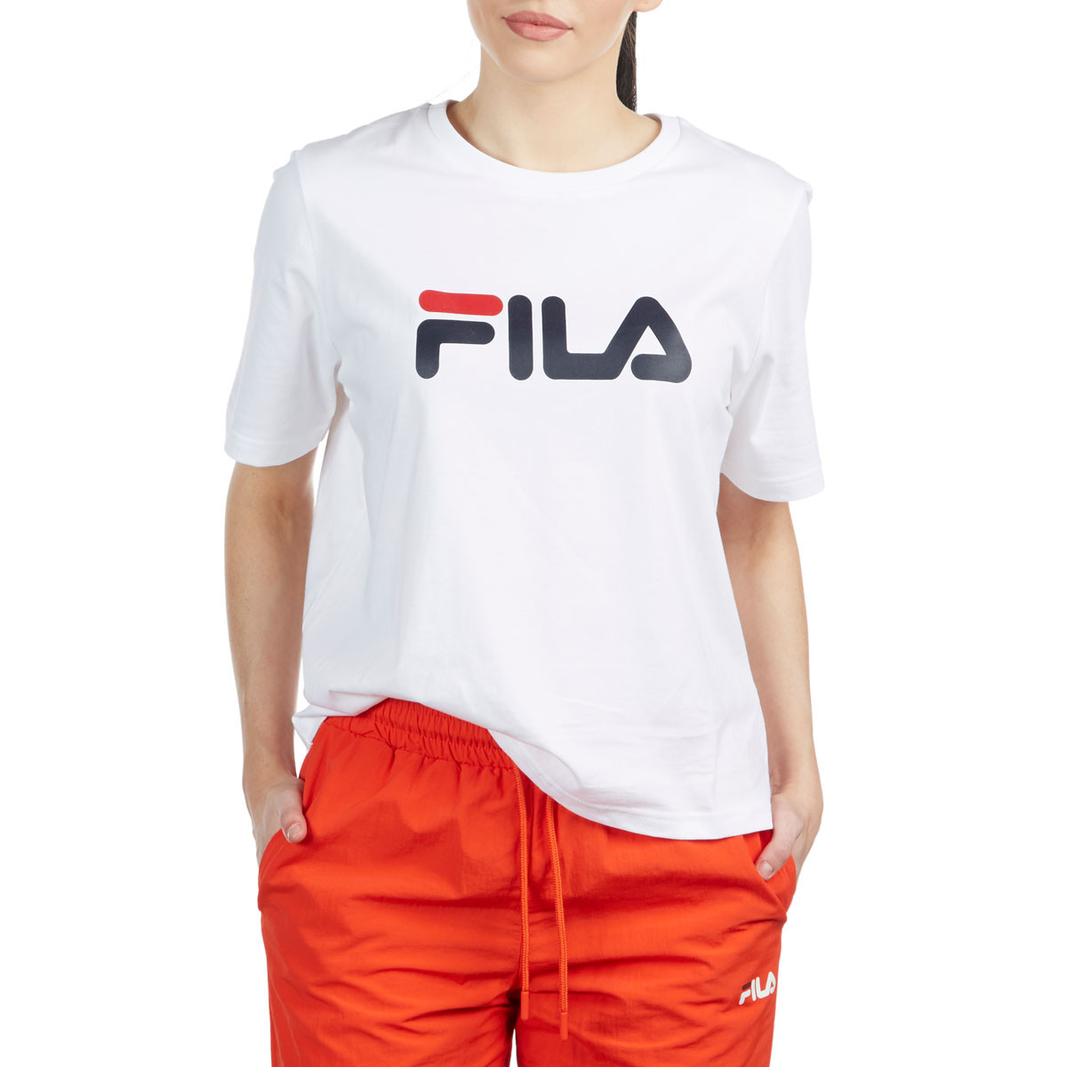 bf4c0b89 FILA Womens Miss Eagle T-Shirt - White/Chinese Red/Peacoat