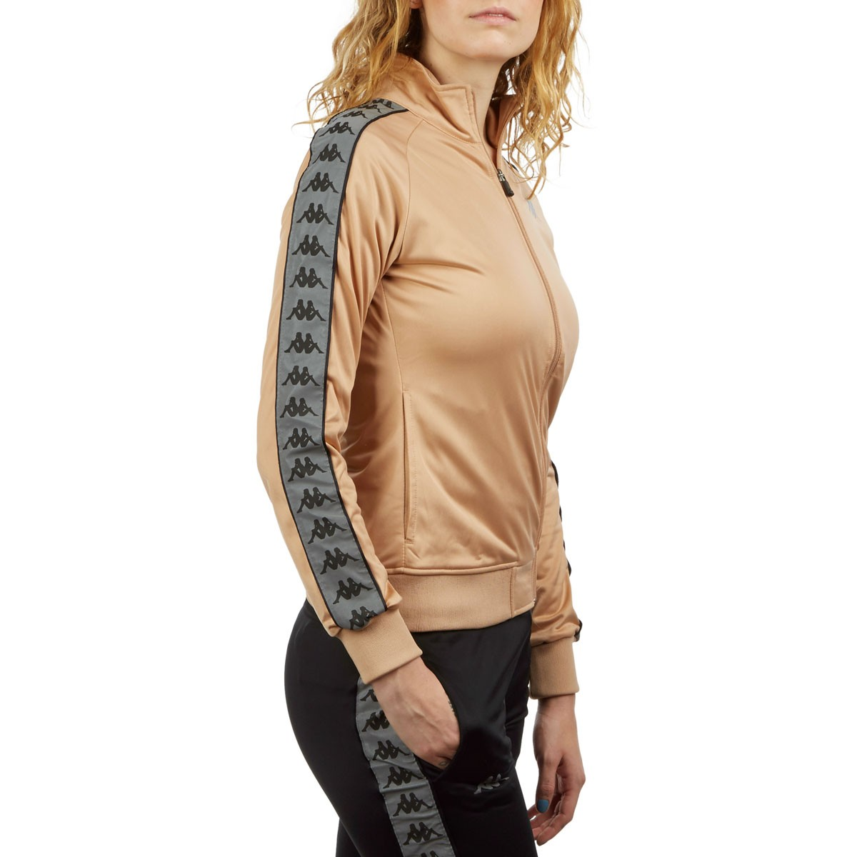 Hazelnut//Reflective Kappa Womens 222 Banda Dolly Jacket