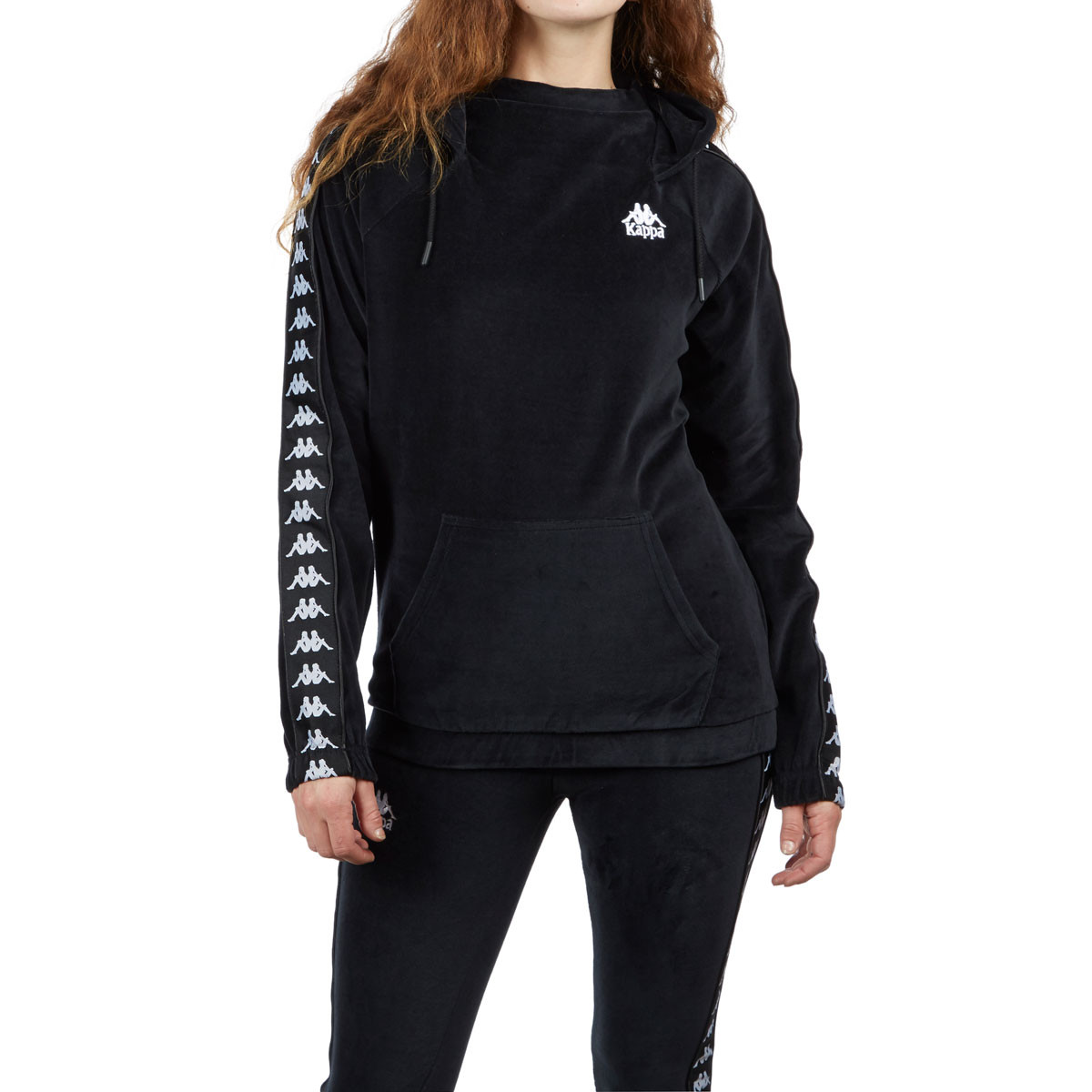 dce40fe1db Kappa Womens Authentic Asper Hoodie - Black/White