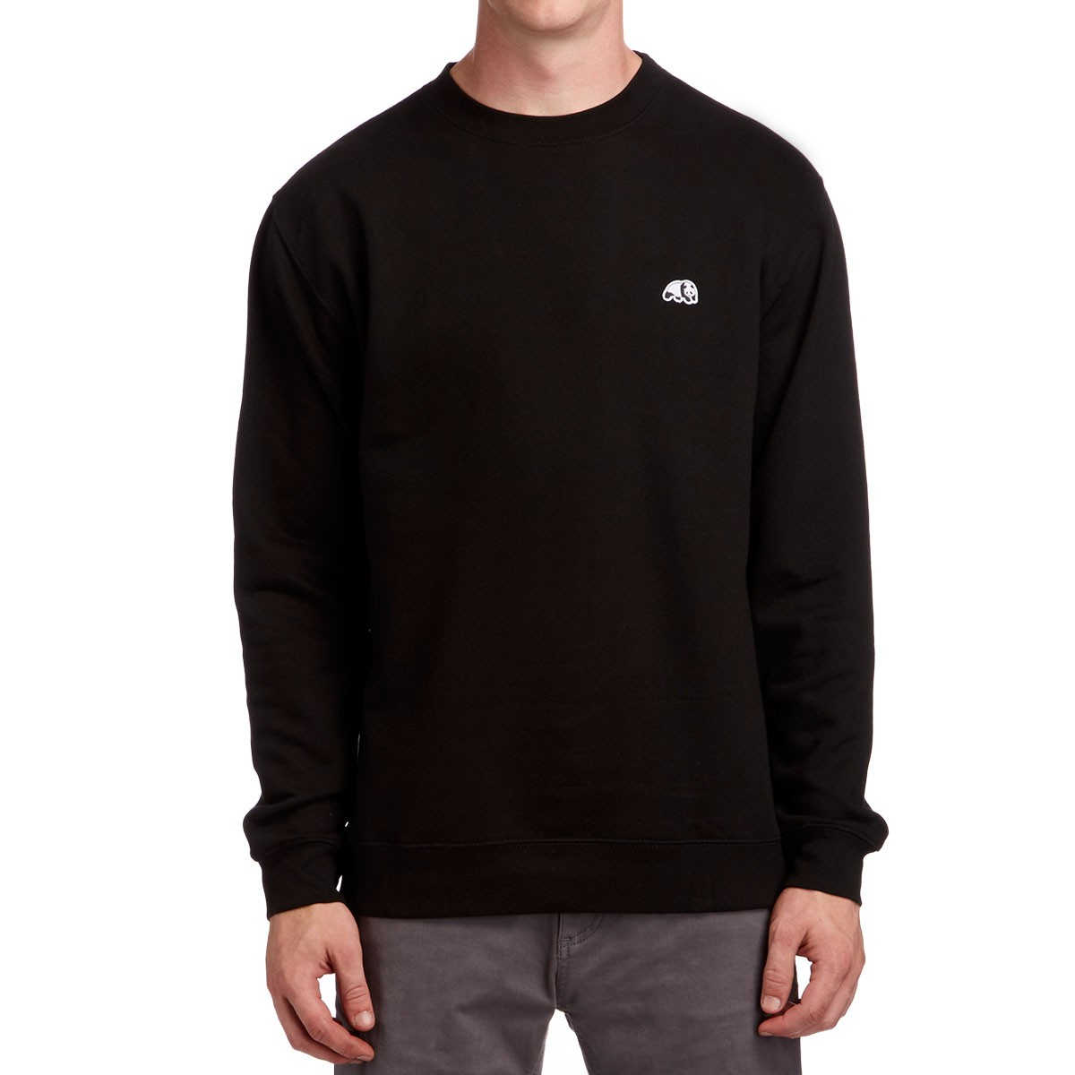 Enjoi Panda Patch Crew Sweatshirt - Black