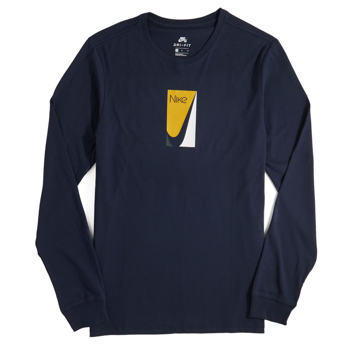 262199a53 Nike SB Color Block Long Sleeve T-Shirt - Obsidian