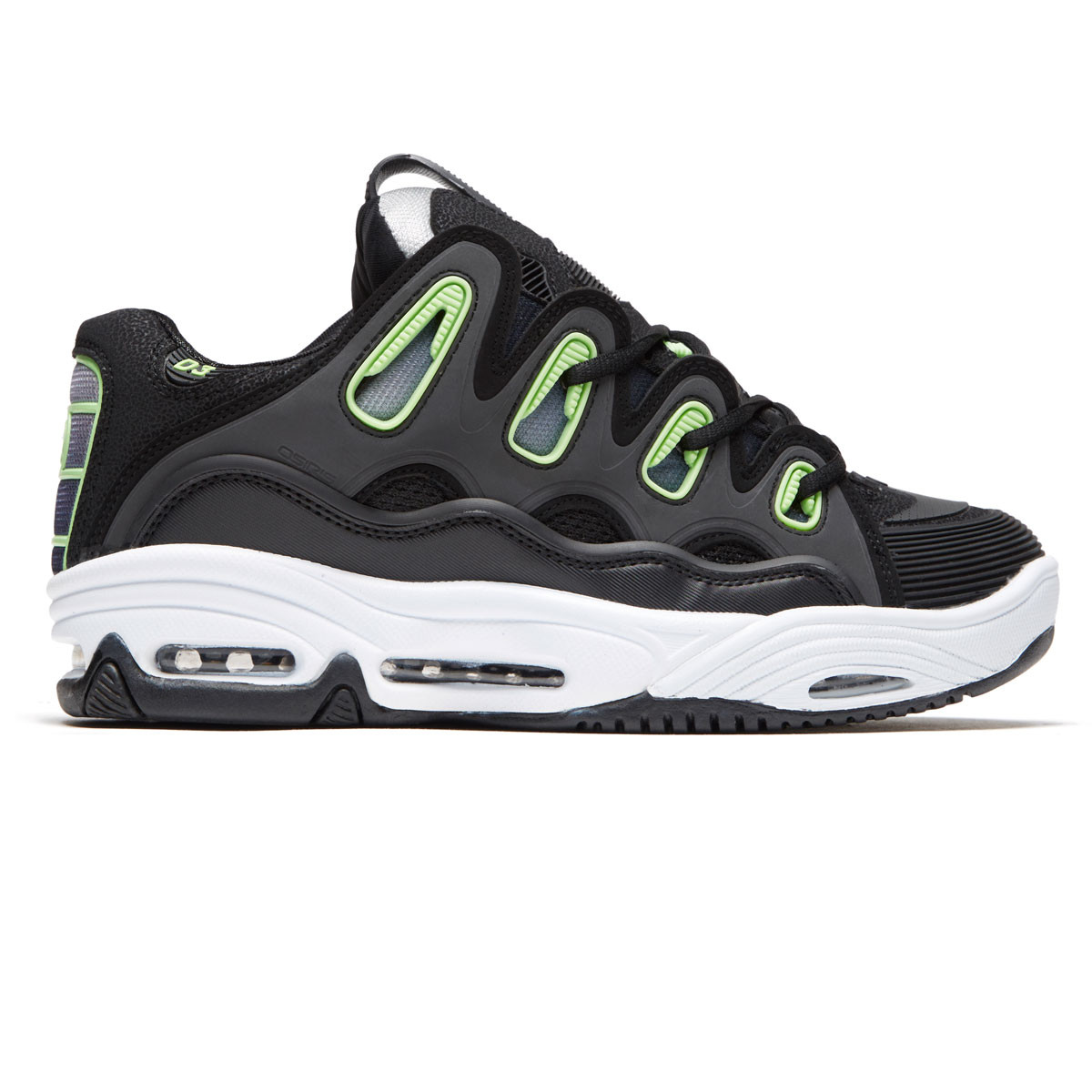 Osiris D3 2001 Shoes - Black White Green 8732e79ff0c