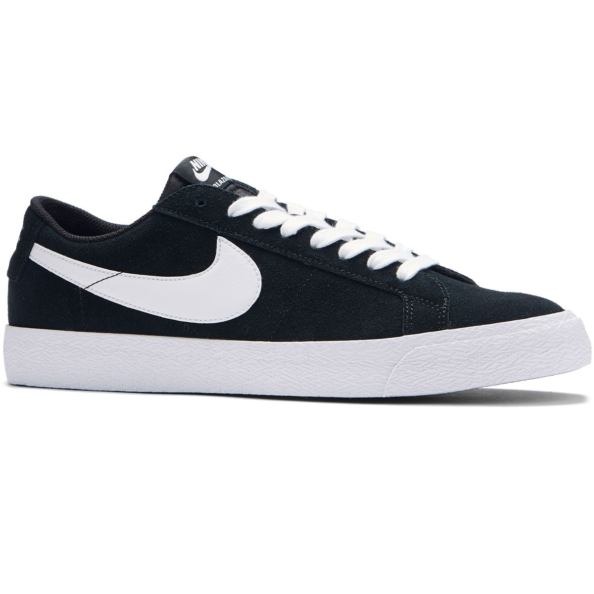on sale 2ea43 f01b3 Nike SB Air Zoom Blazer Low Shoes - Black White Gum Light Brown -