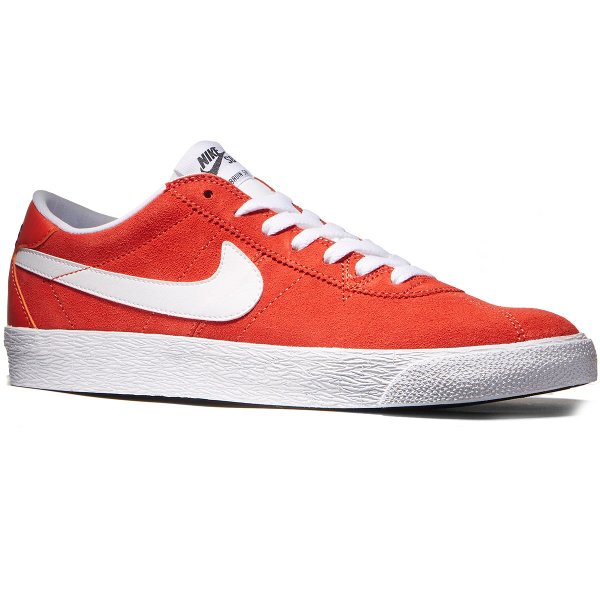 Nike Bruin SB Premium SE Shoes - Max Orange/White/Black - 8.5