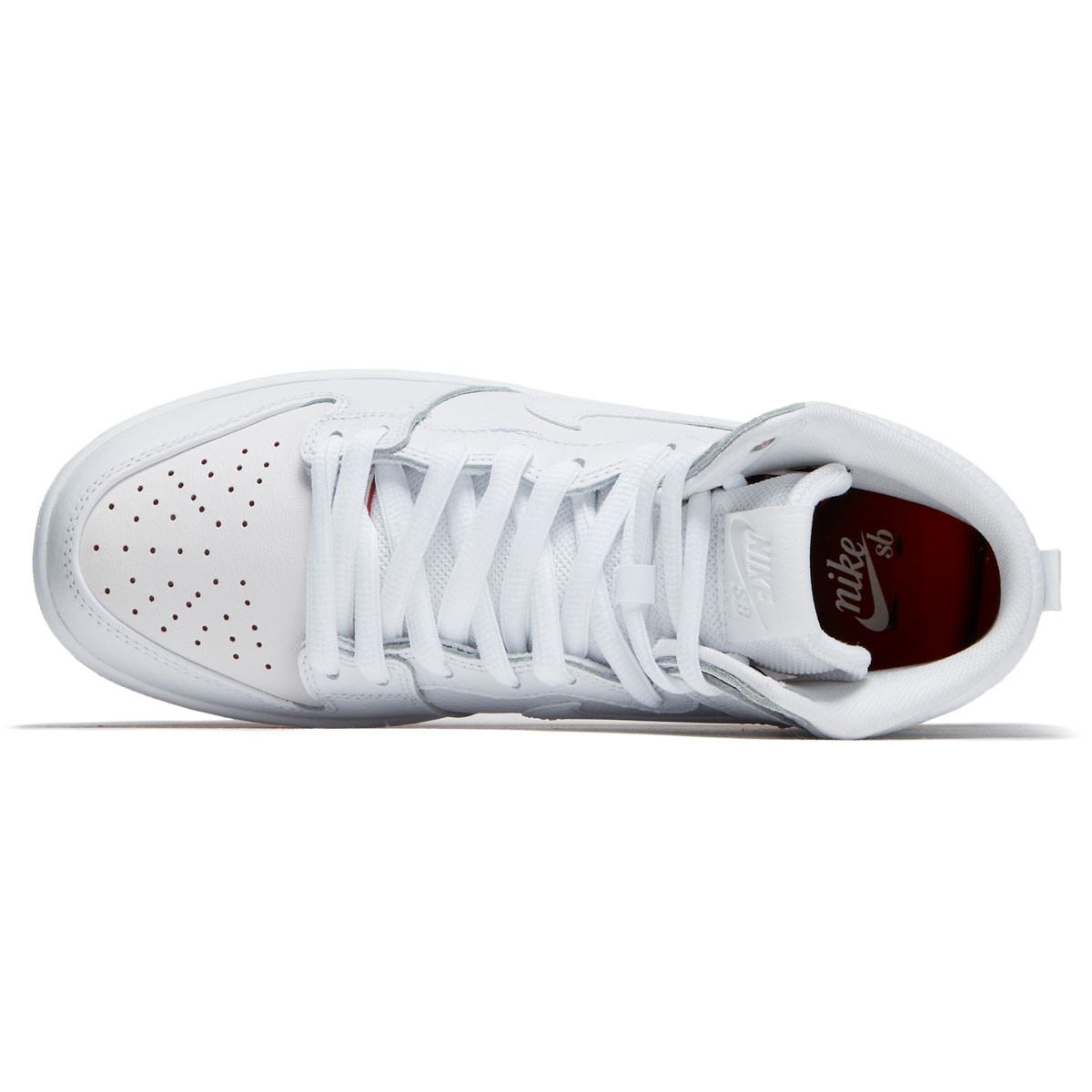 a6e0c30d3446 Nike SB Kevin Bradley Zoom Dunk High Pro QS Shoes - White White Red