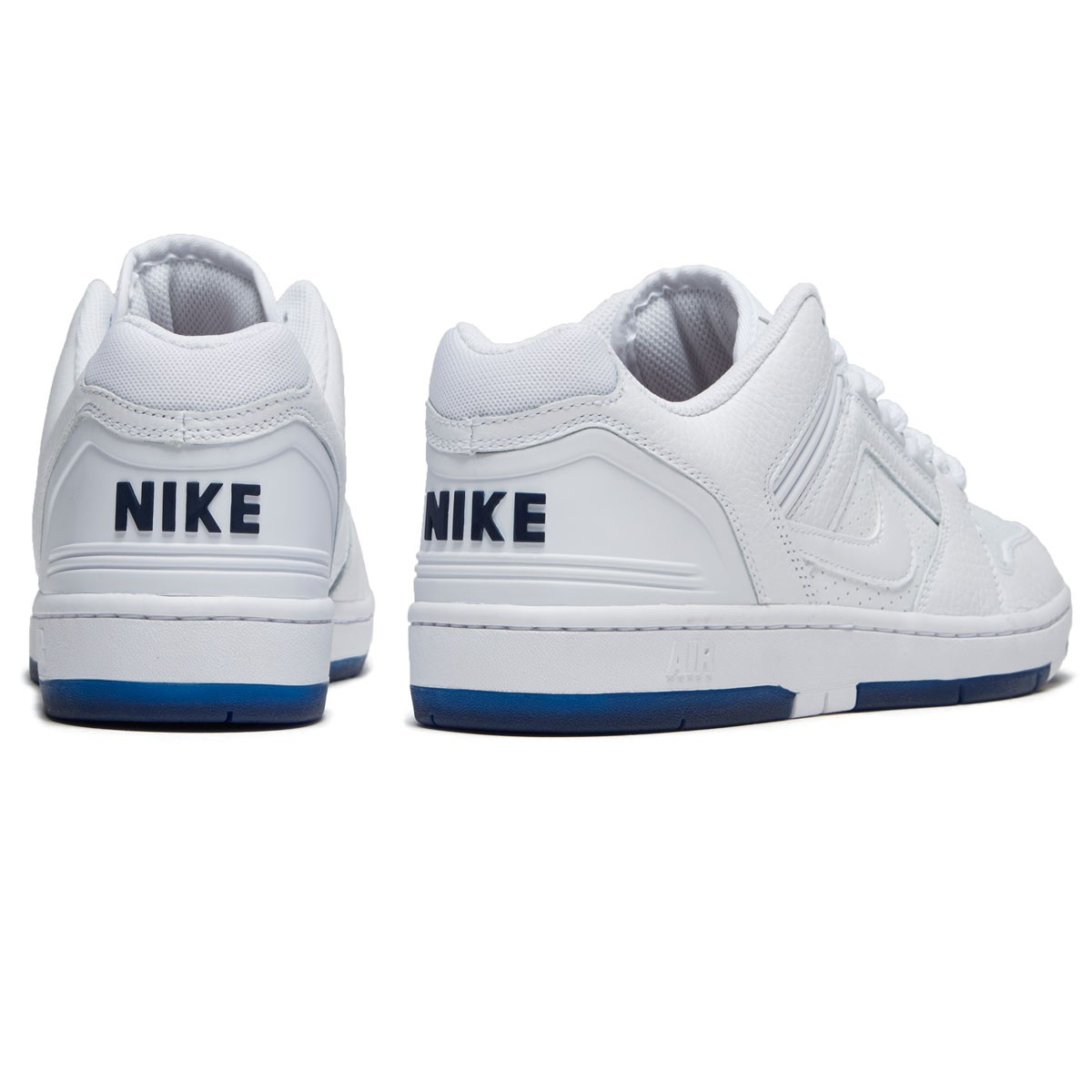 ca10e06b0237e Nike SB Kevin Bradley Air Force II Low QS Shoes - White White Blue