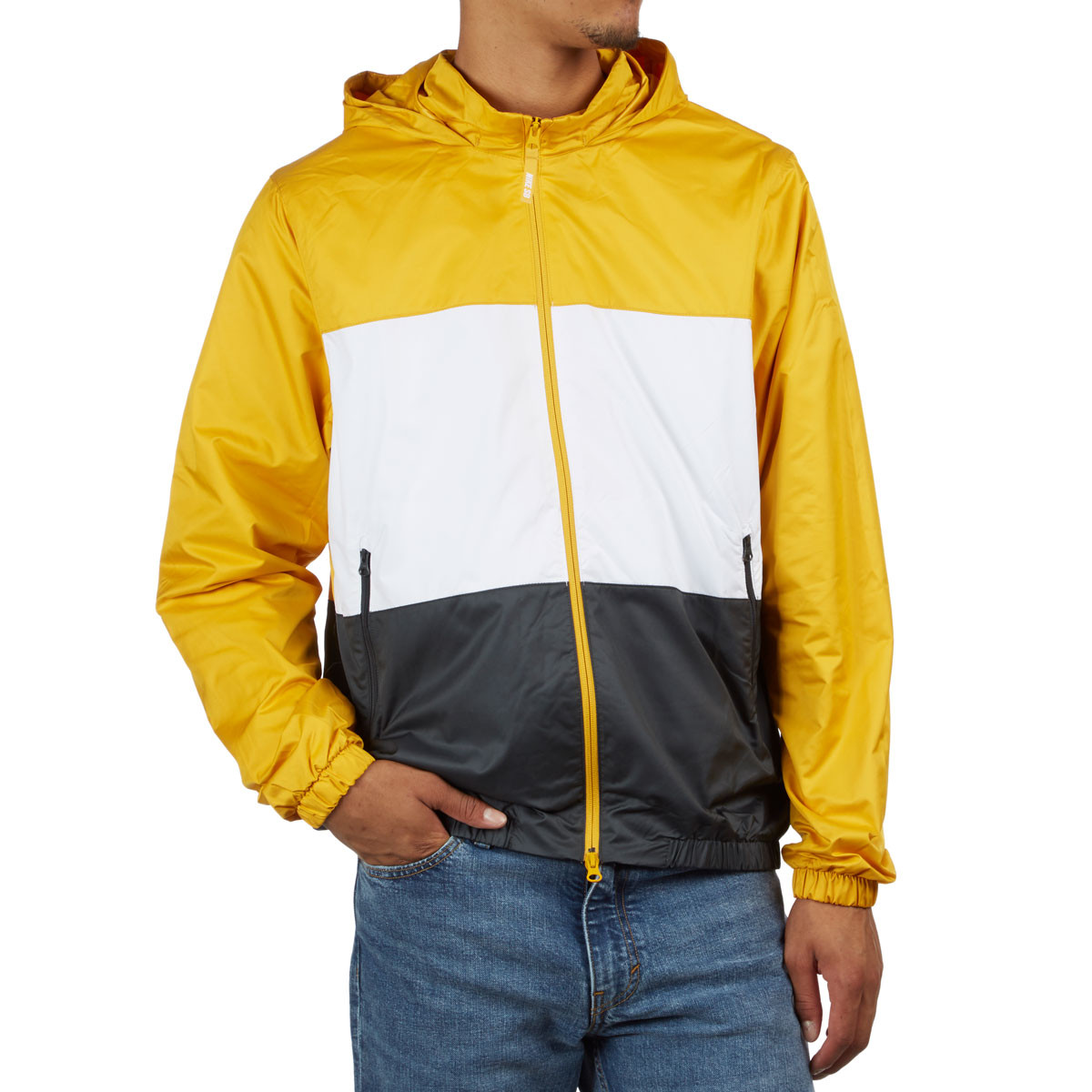 Nike SB Dry-Fit Hooded Stripe Jacket - Yellow Ochre White Anthracite d9d8870e7