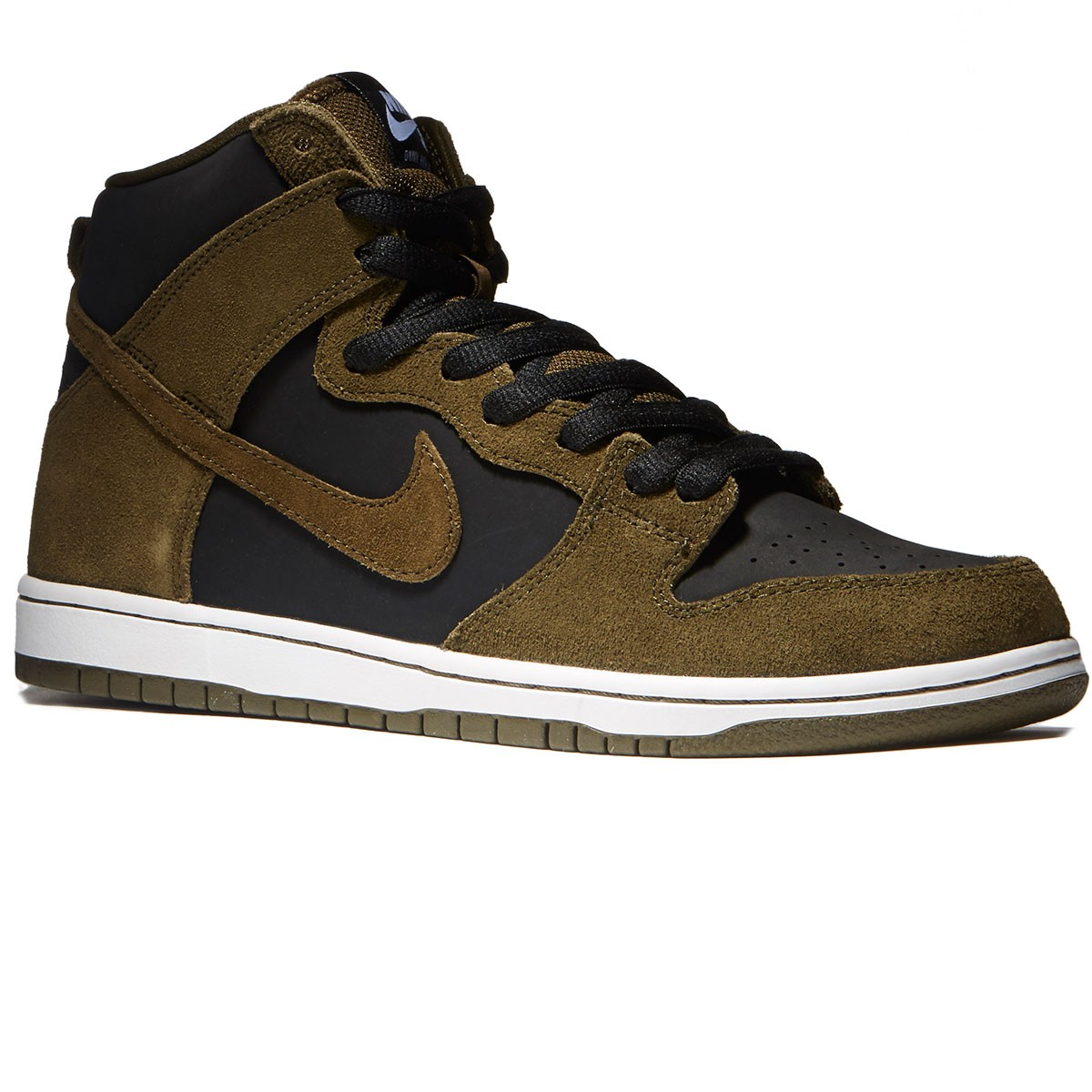 Nike Dunk High Pro SB Shoes - Dark Loden/Black/White - 7.0