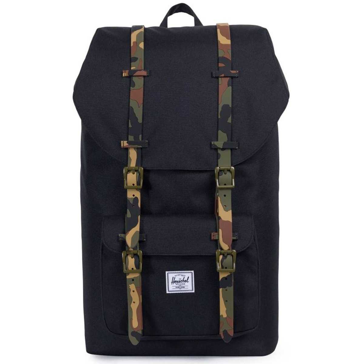 59b99f52a7b Herschel Little America Backpack - Black Woodland Camo Rubber