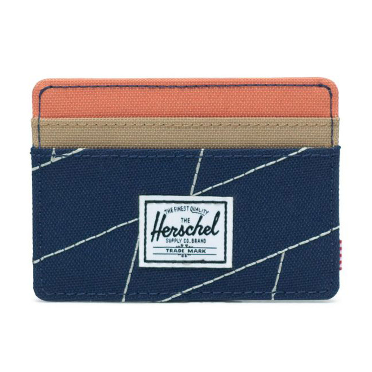8eb15ab181c Herschel Supply Charlie Wallet - Medieval Blue Crosshatch