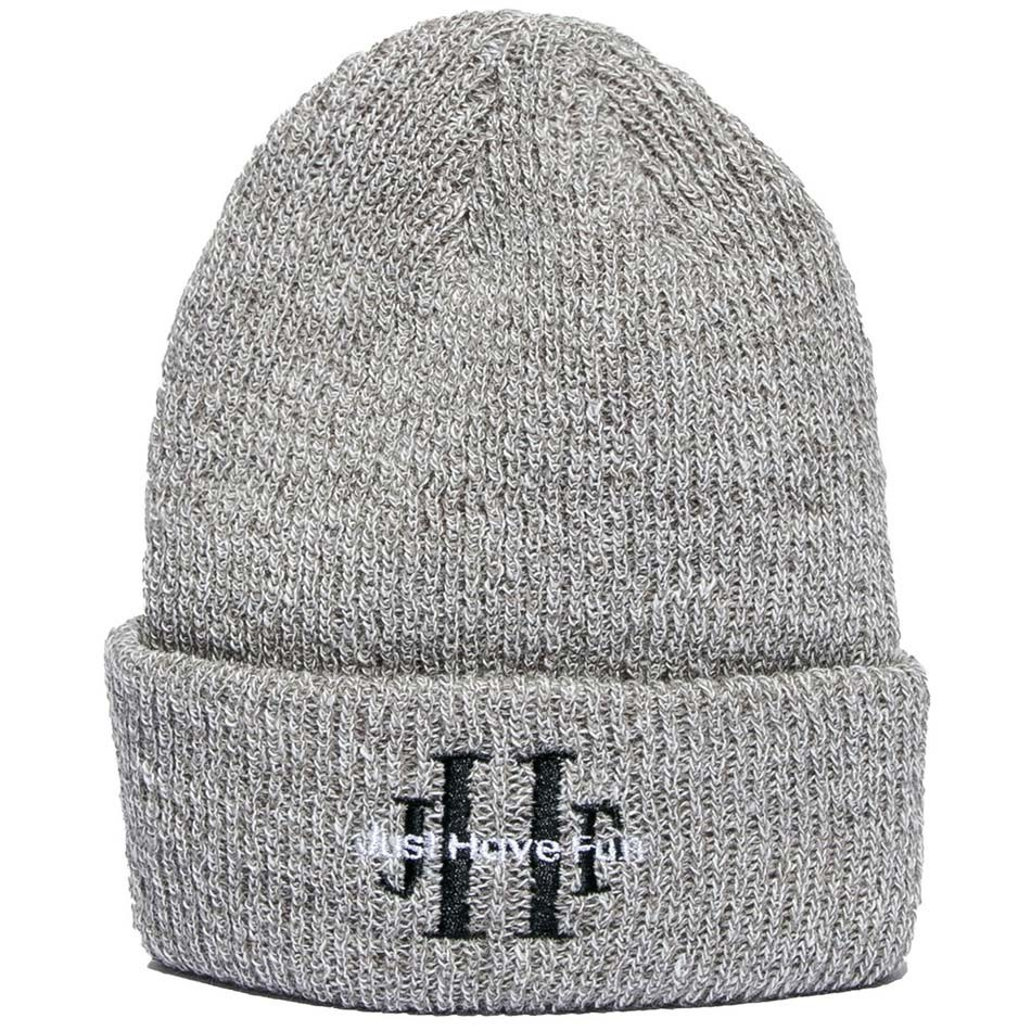 635e1b6d4c3 Just Have Fun Stoned Wash Beanie - Heather Grey