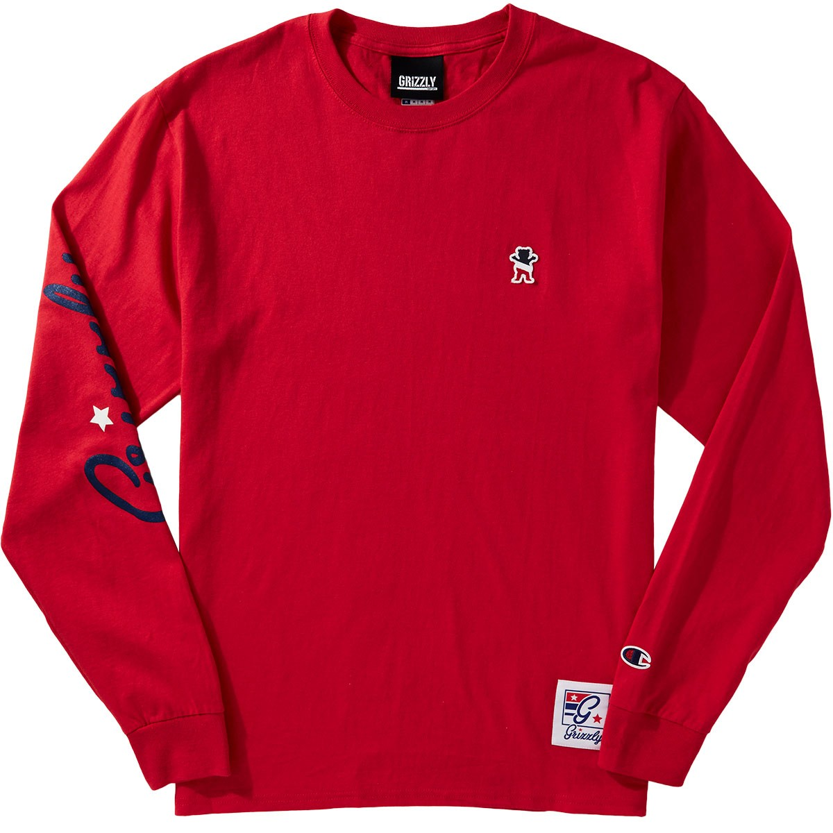57bdf958a7db Grizzly X Champion Behind The Arc Longsleeve T-Shirt - Red