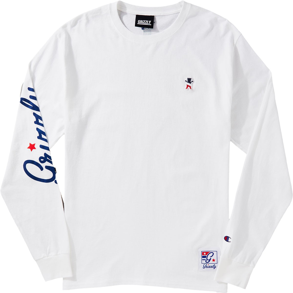 c05ed05df52e Grizzly X Champion Behind The Arc Longsleeve T-Shirt - White