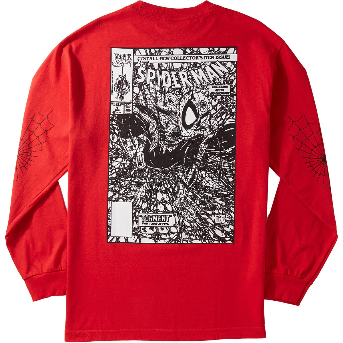 8eb2e5922 Grizzly,X,Spiderman,Longsleeve,T-Shirt,Vintage,Red,spider,man,marvel,spider- man